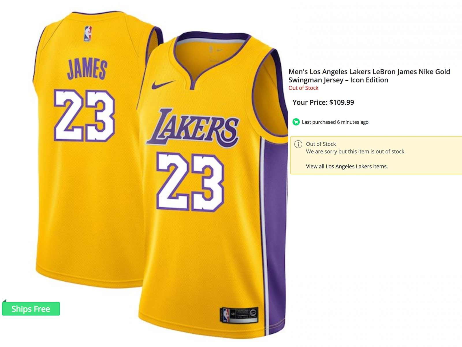 the best attitude 4d679 67ac5 LeBron James Lakers Jersey Getting Swept Up While Cleveland ...