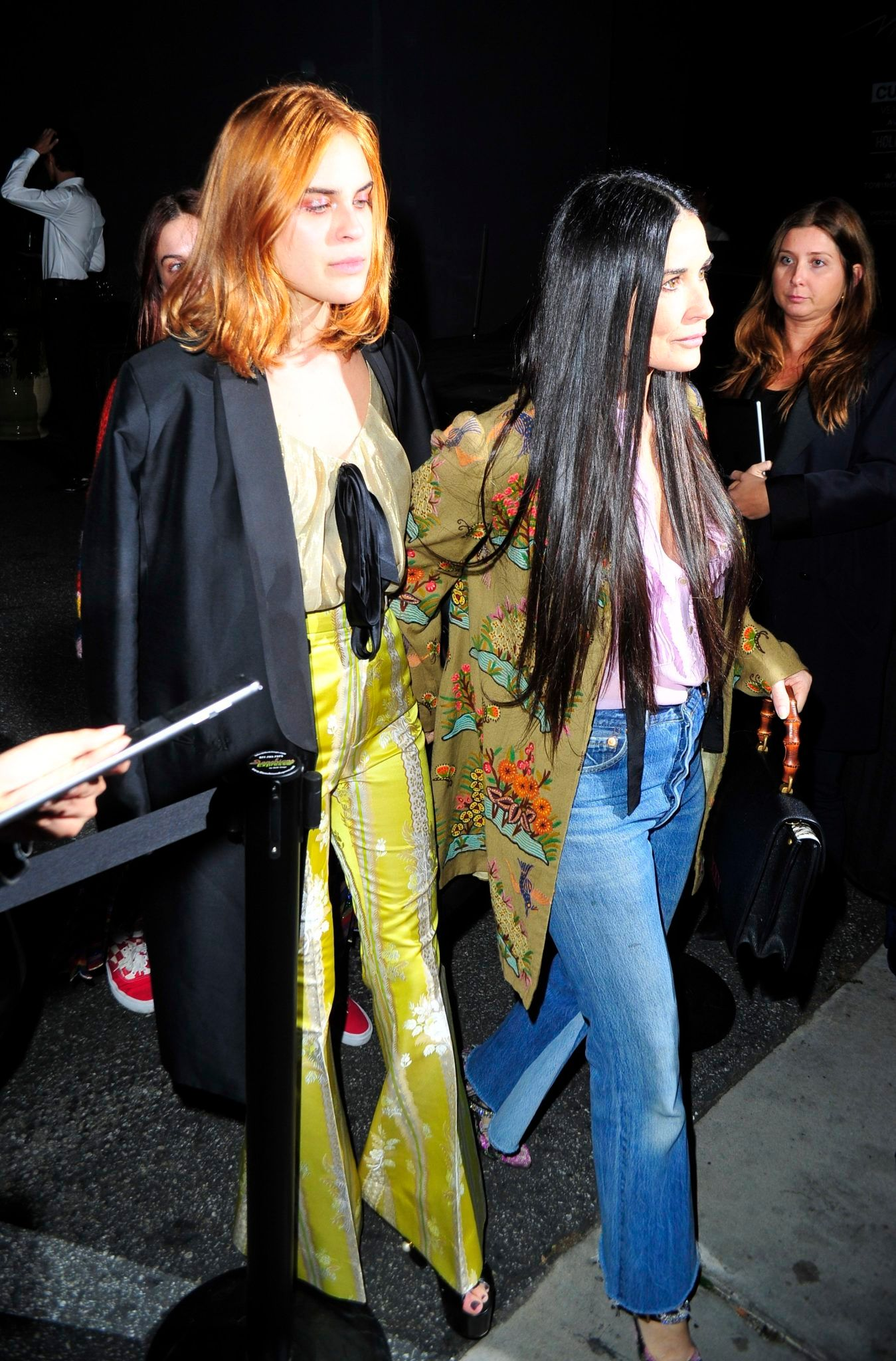 Demi Moore and Daughters Step Out for Gucci