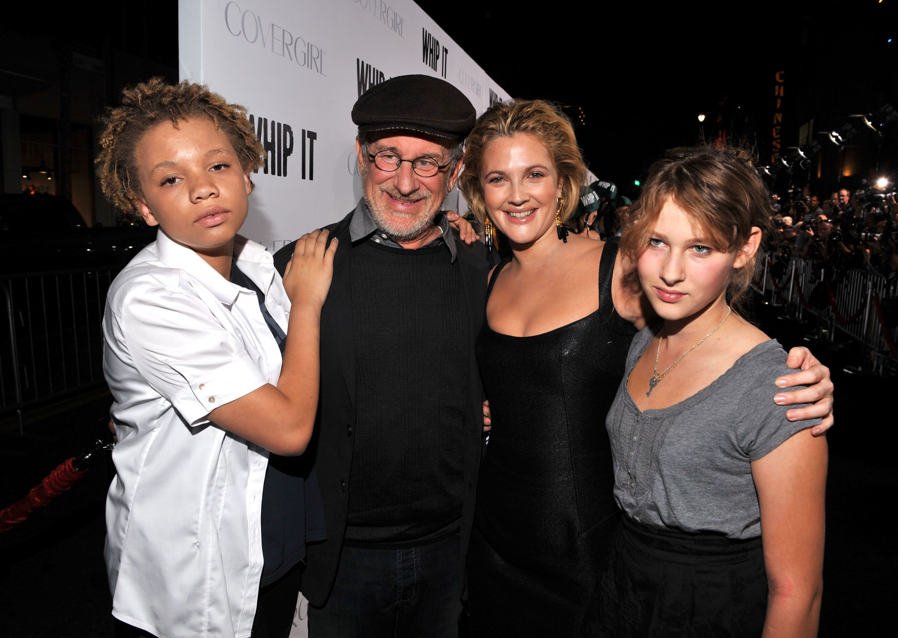 Two of Steven Spielberg's daughters and actress Drew Barrymore