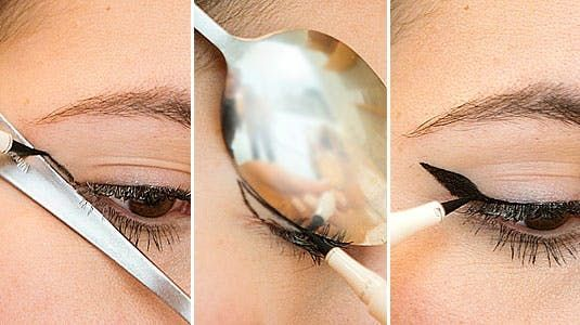 Image result for Use a Spoon as a Mascara Shield