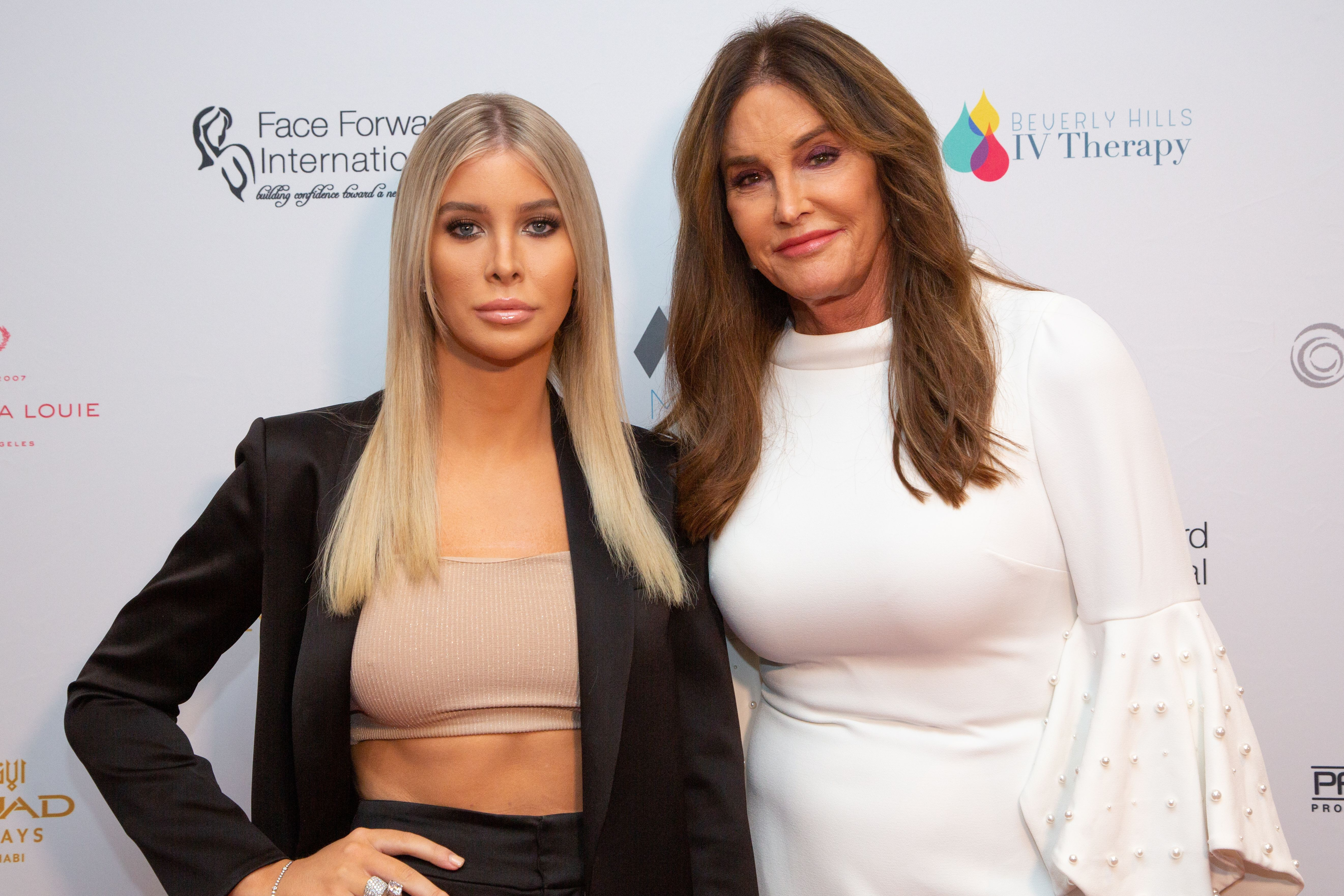 Sophia Hutchins (left) poses with Caitlyn Jenner (right)