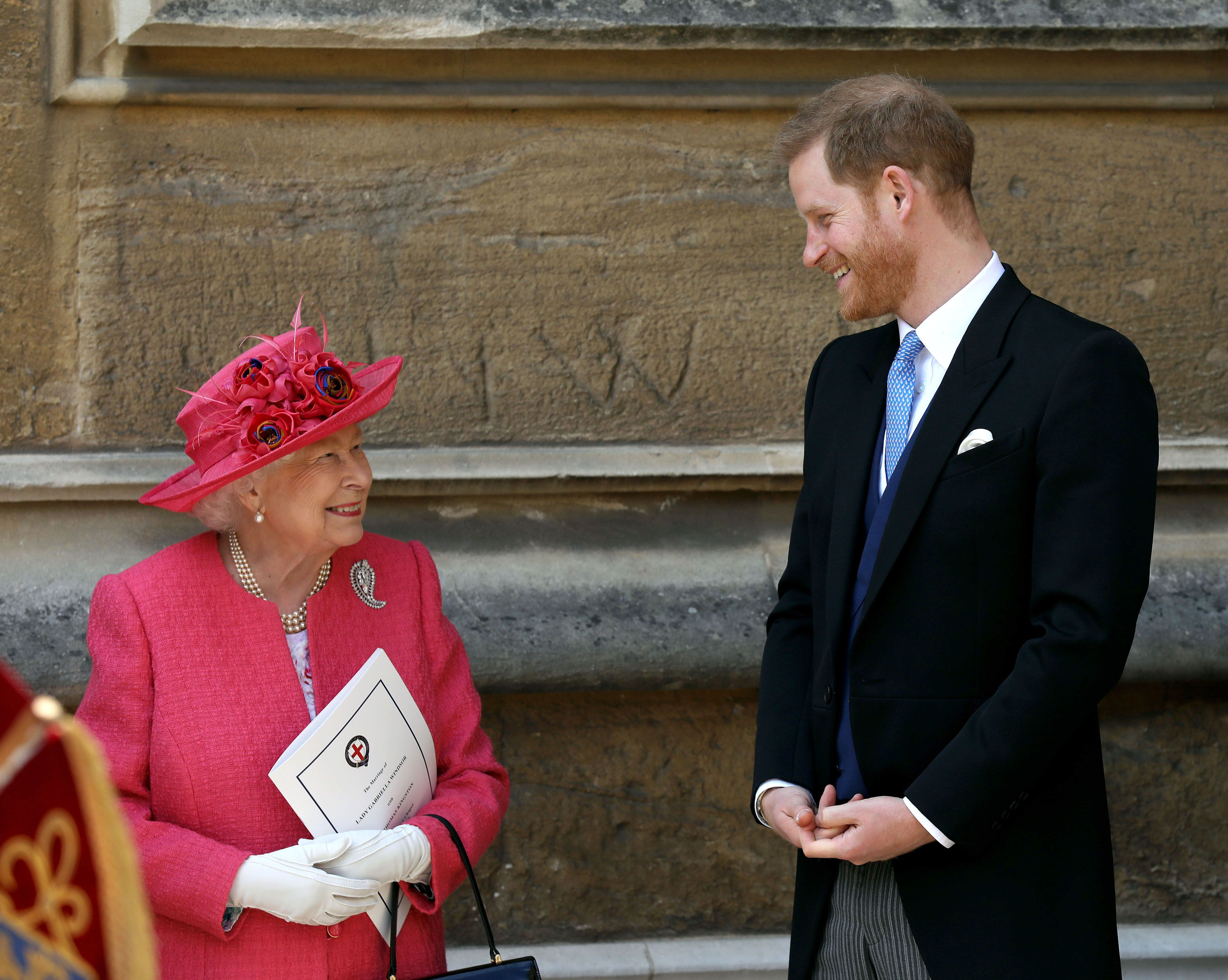 Prince Harry and Queen Elizabeth II