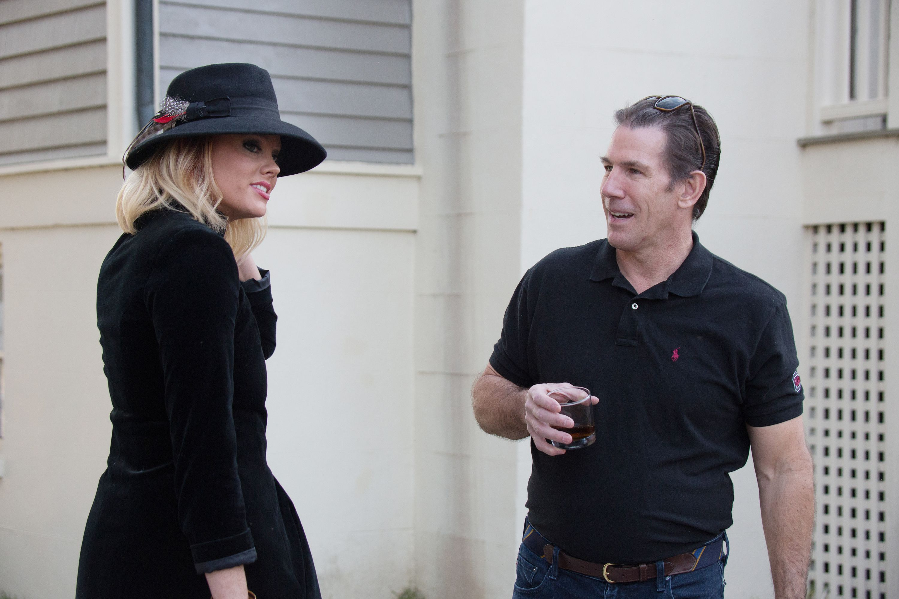 Thomas Ravenel filming a scene for Southern Charm