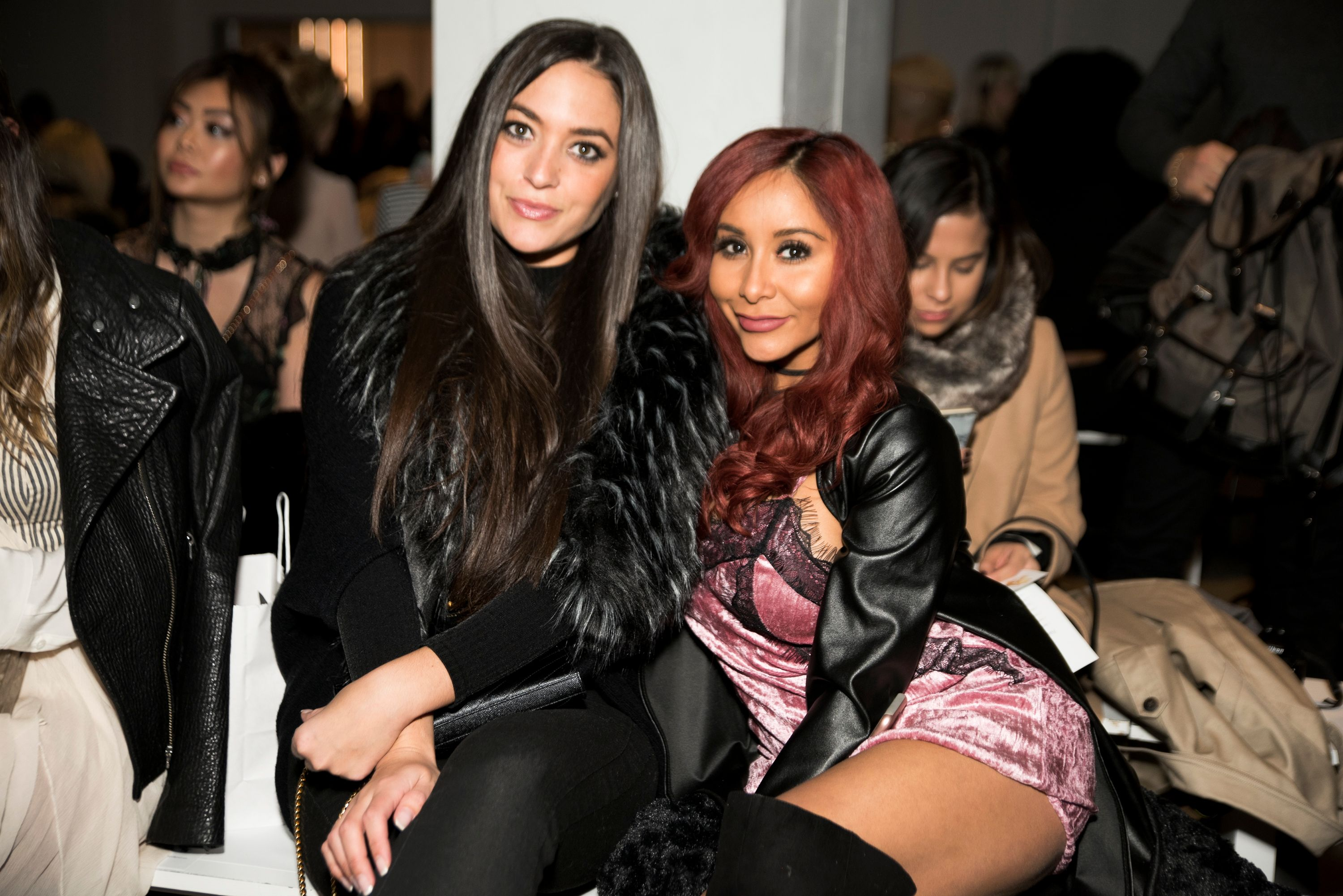Sammi Giancol with Snooki from Jersey Shore at an event