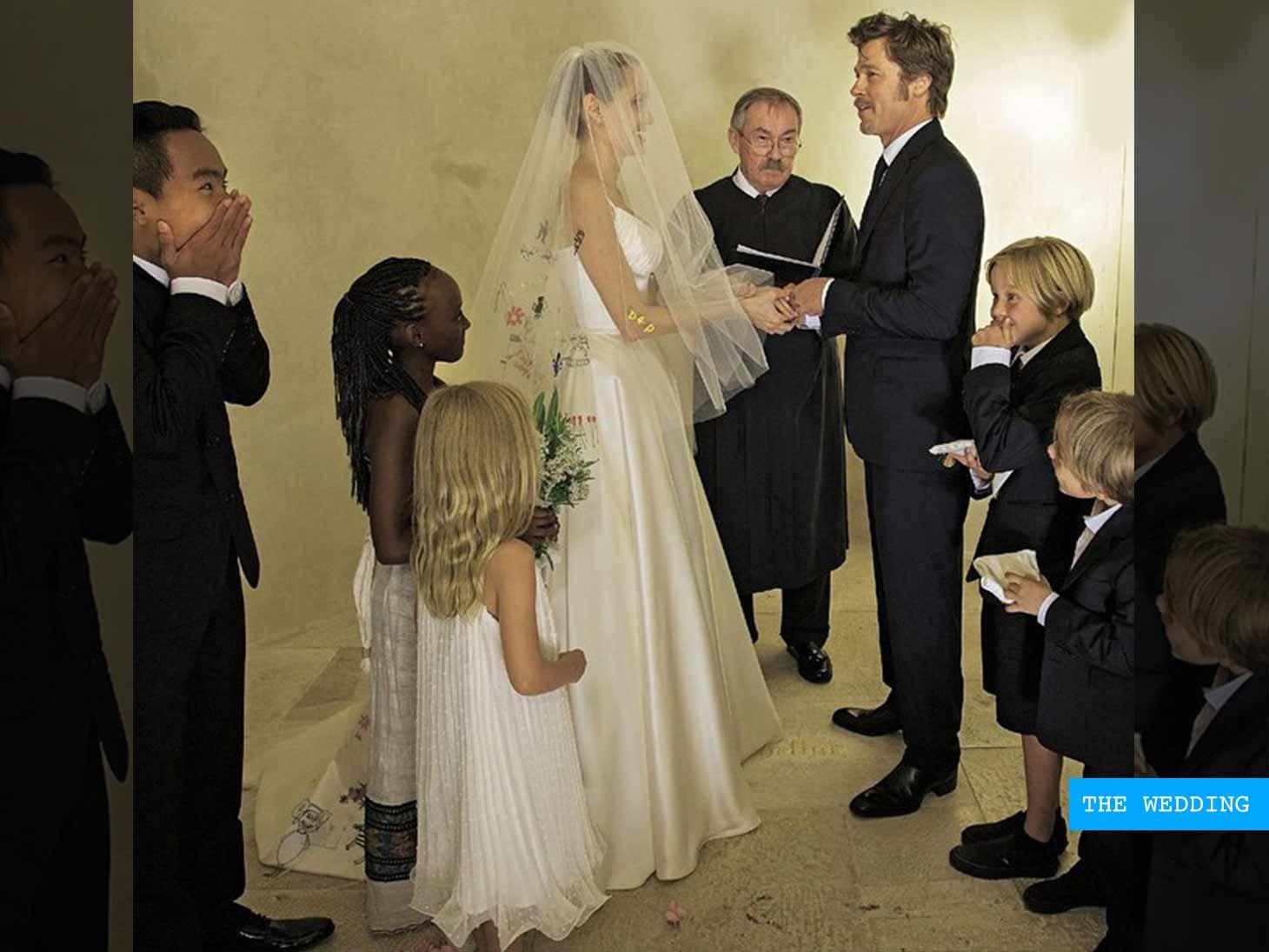 Brad Pitt And Jolie Wedding Pictures