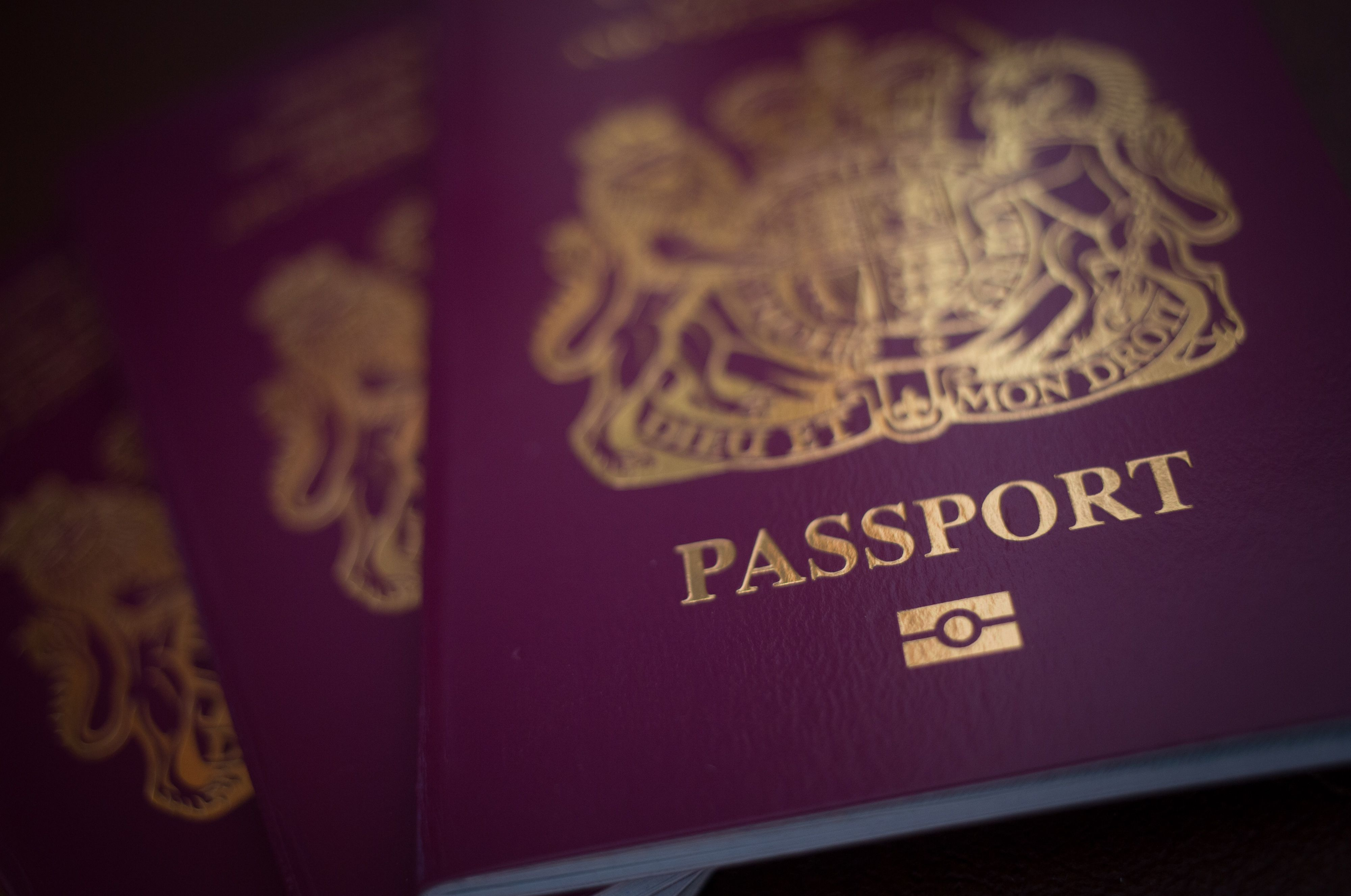 A picture of a passport.