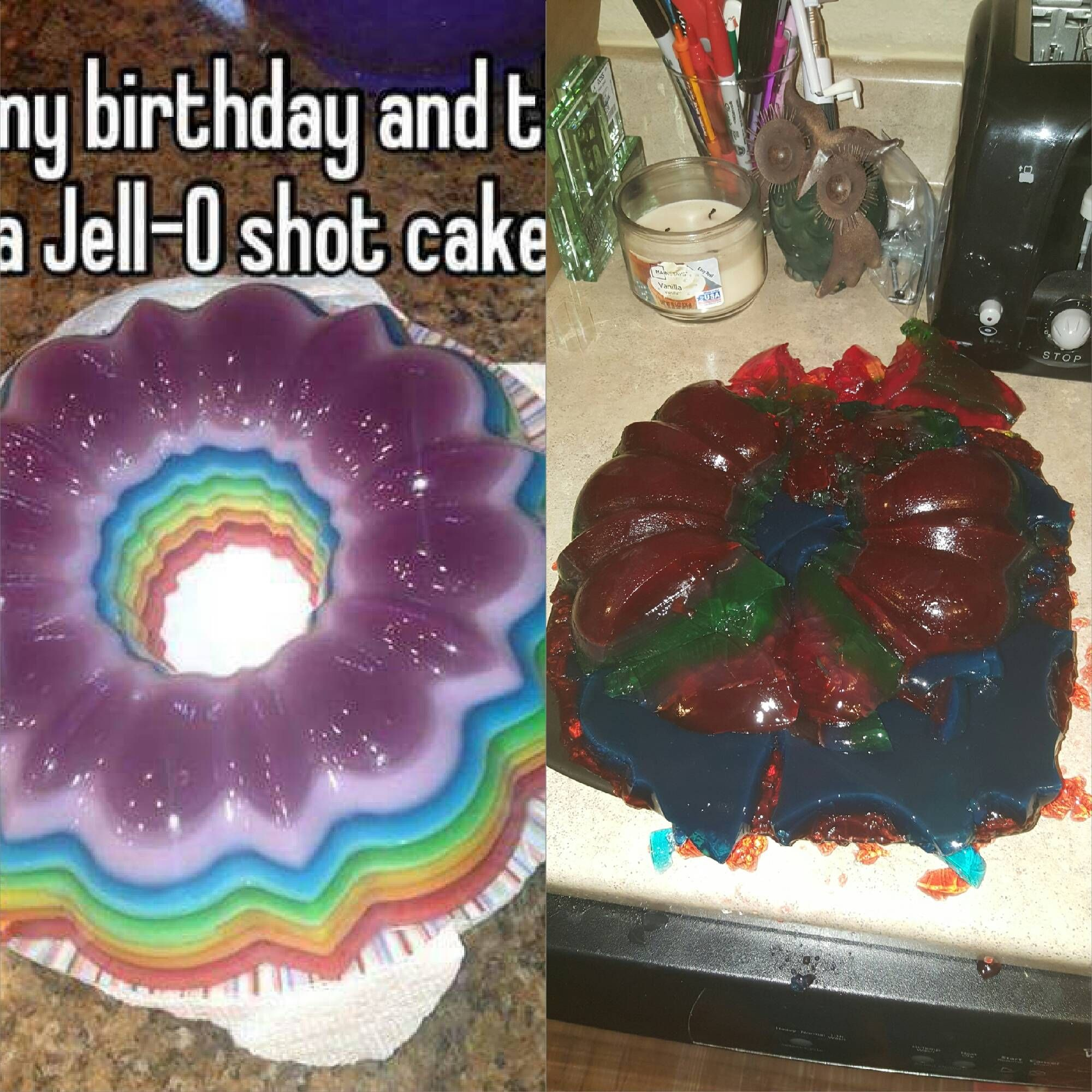 Enjoyable People Are Making Jell O Shot Cakes To Really Get The Party Started Personalised Birthday Cards Akebfashionlily Jamesorg