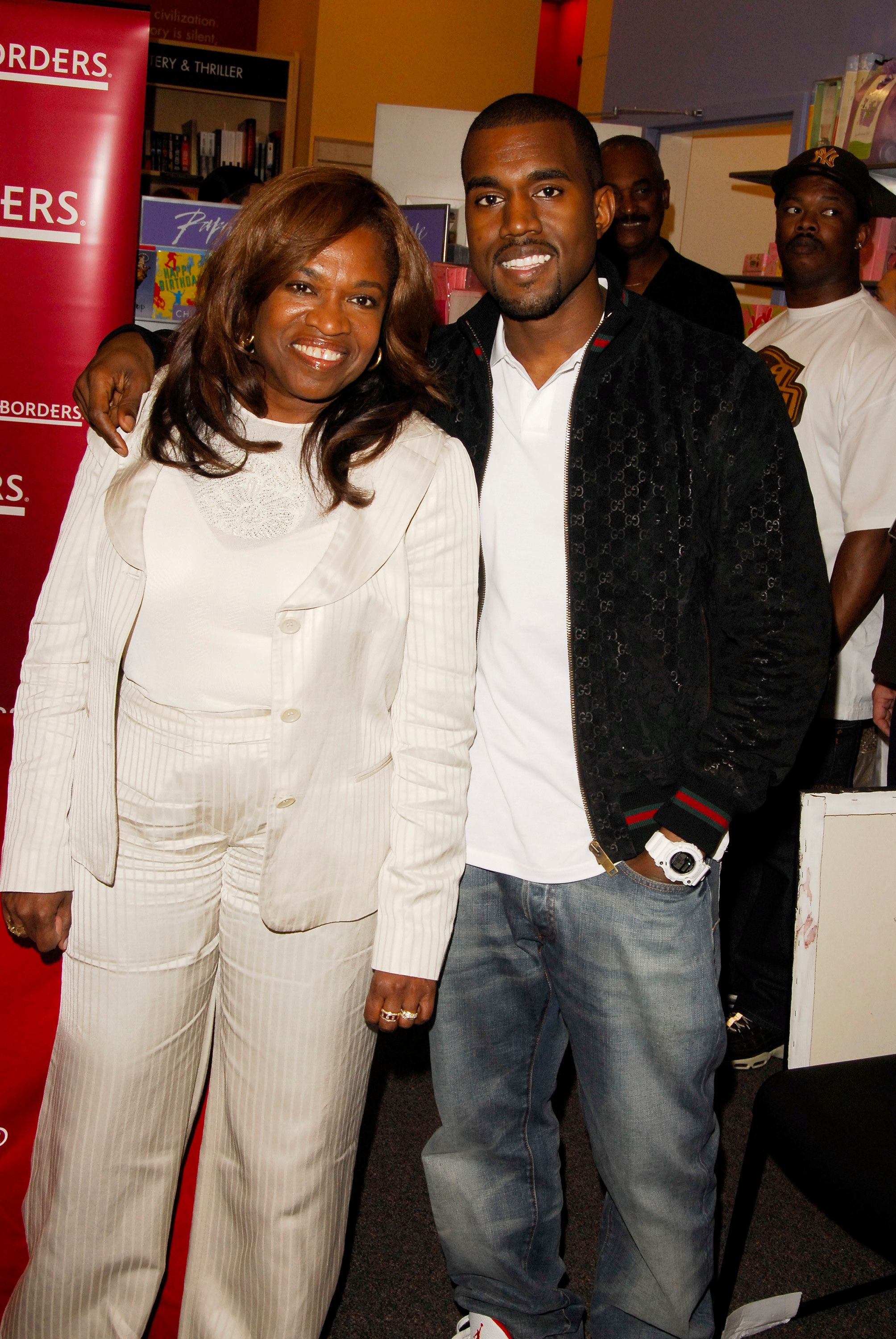 Kanye Wesy and his mother Donda West