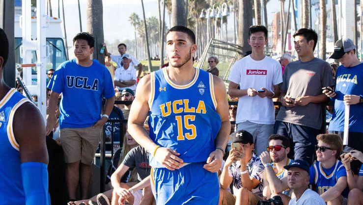 LiAngelo Ball wearing UCLA jersey