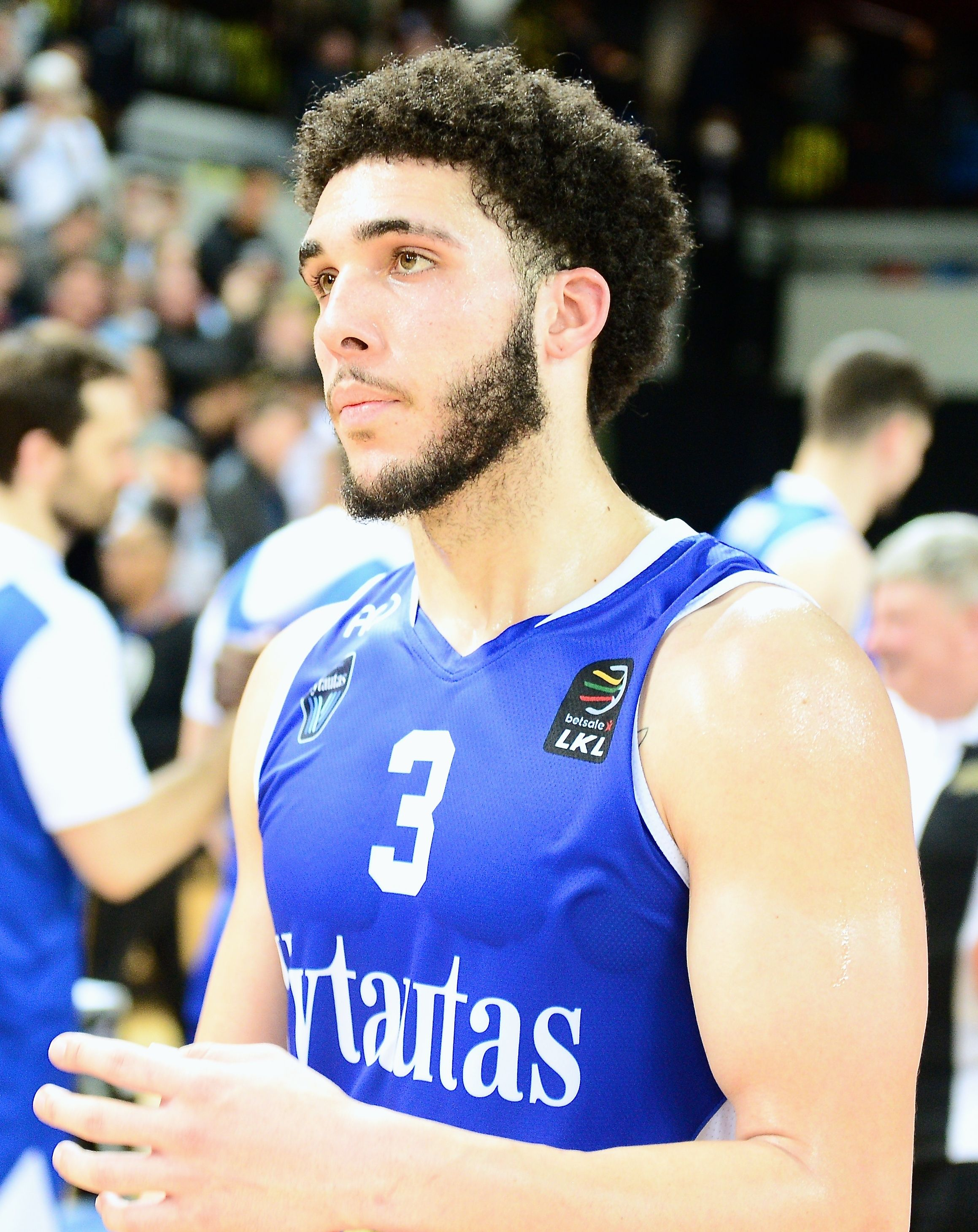LiAngelo Ball after a game.