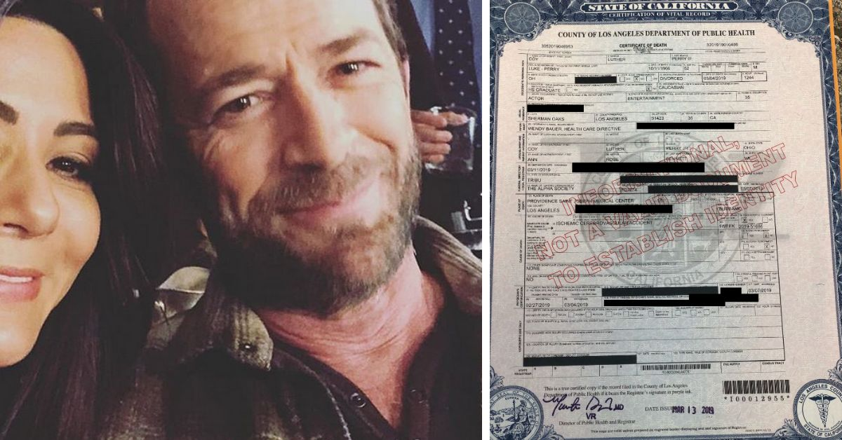 Luke Perry's Final Resting Place Revealed In Released Death