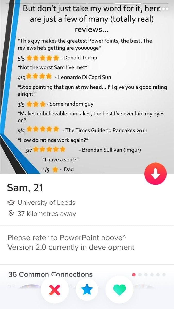 This Guy Made His Tinder Profile A PowerPoint Presentation, And It