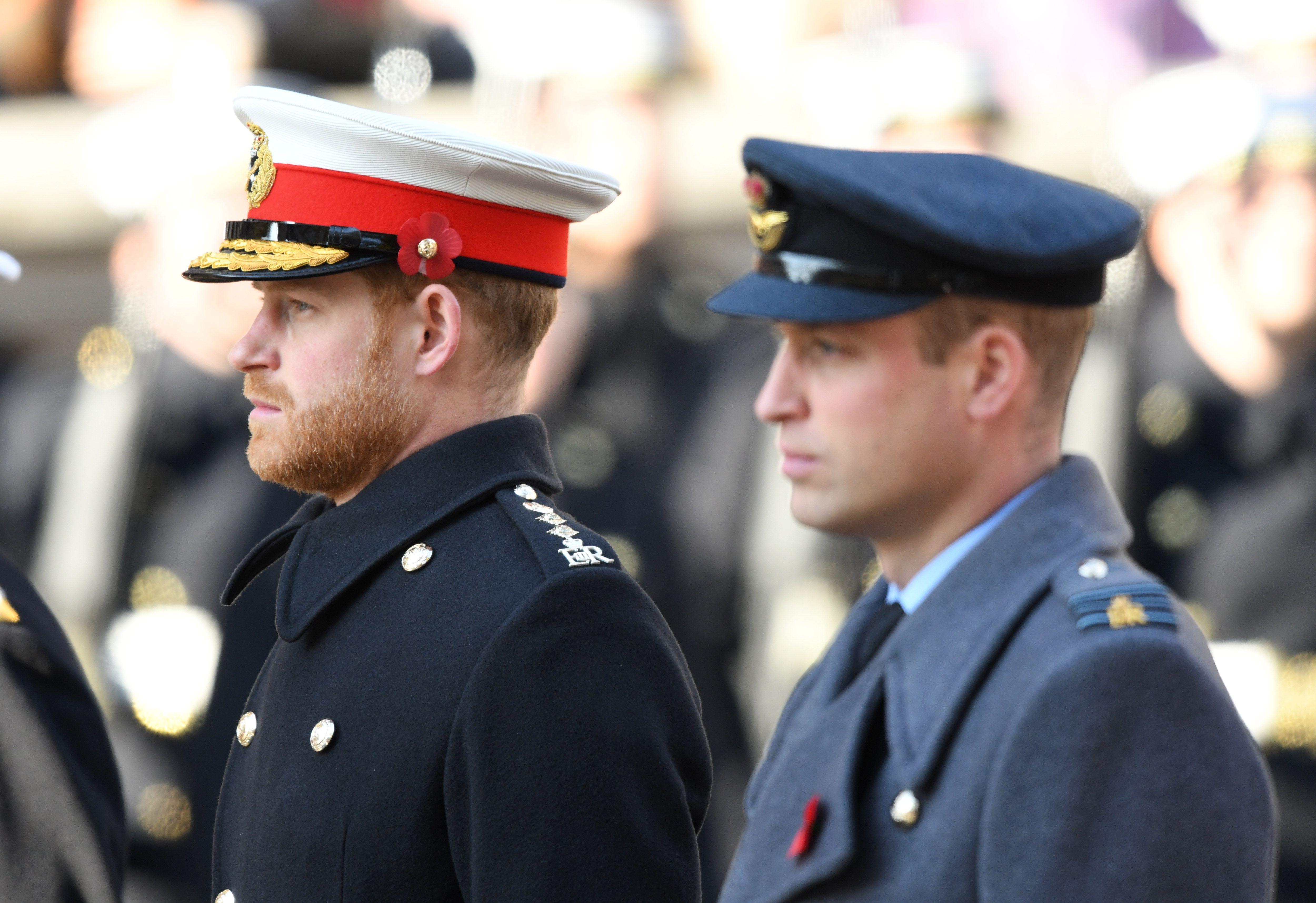 Wiliam and Harry in uniform