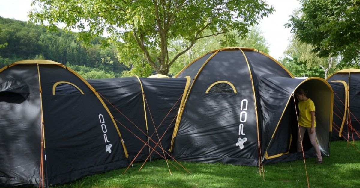 new concept 10e63 b6e3b Create One Giant Camping Community With These Linking Tents