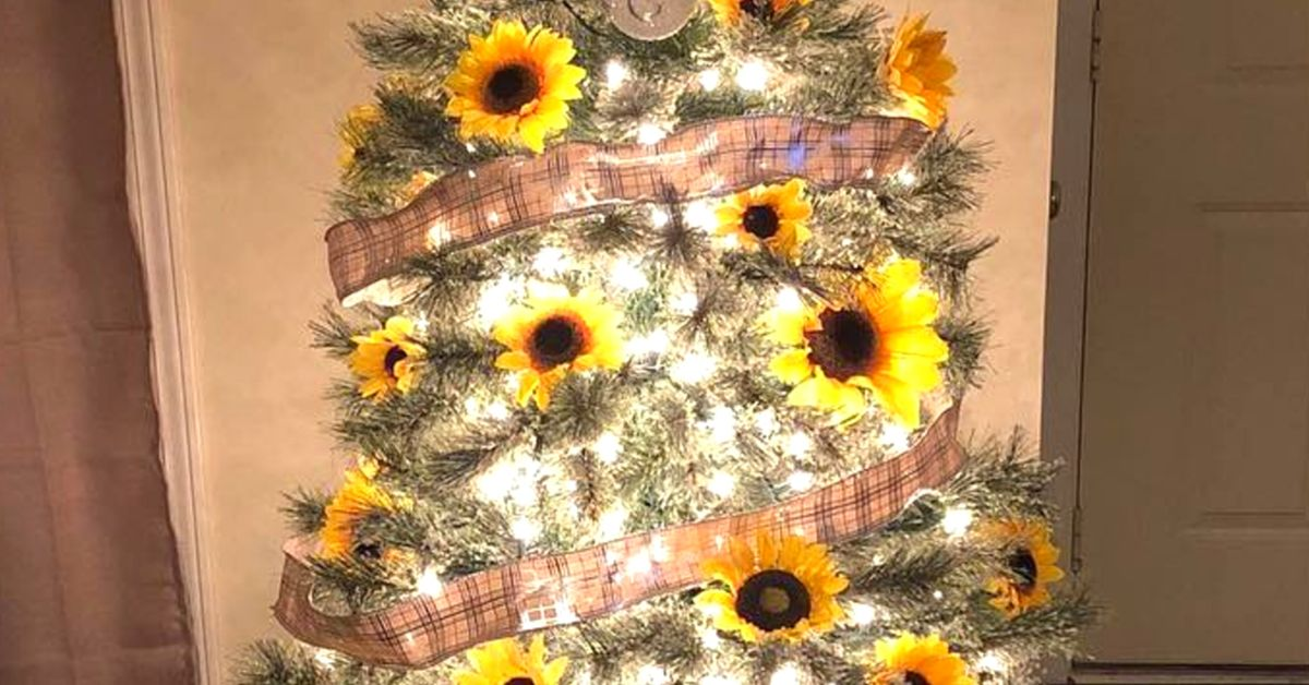 Wake Up And Smell The Flowers On Christmas Morning With Sunflower Christmas Trees