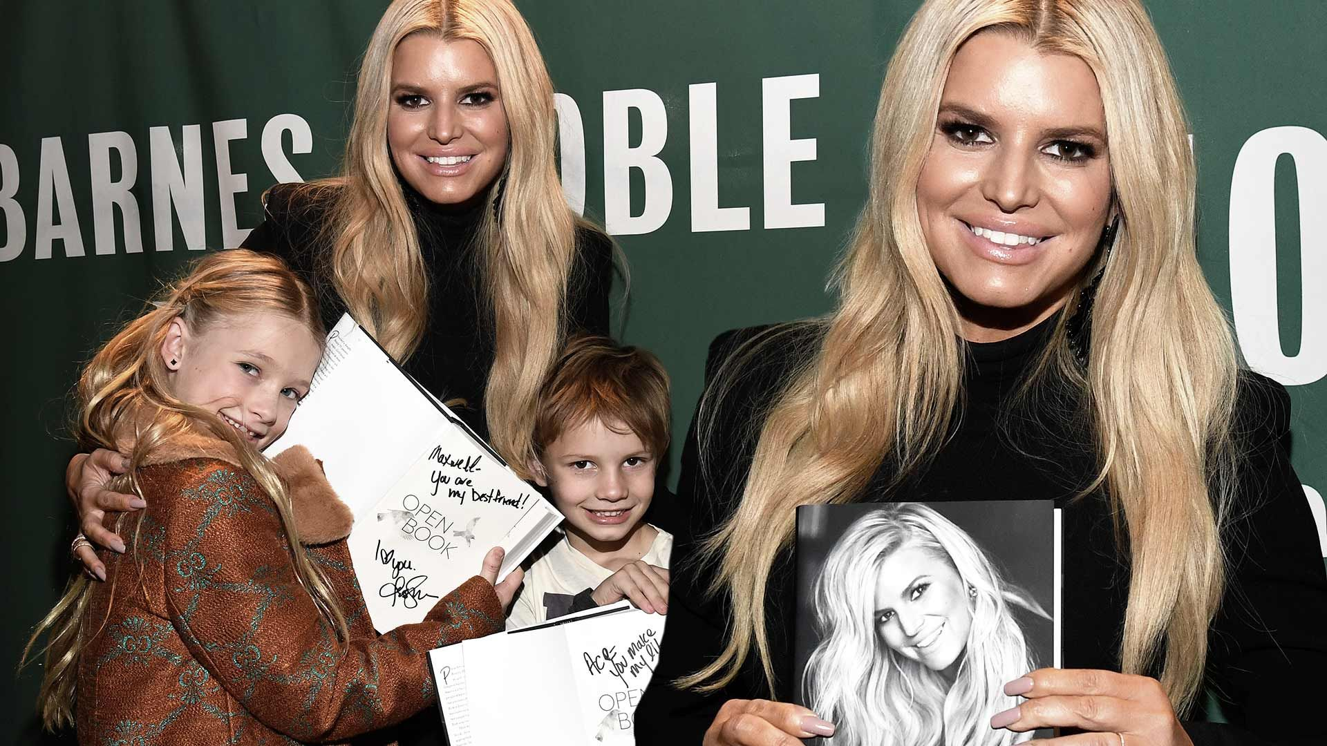 Jessica Simpson S Kids Make Rare Appearance To Support Mom At First Book Signing