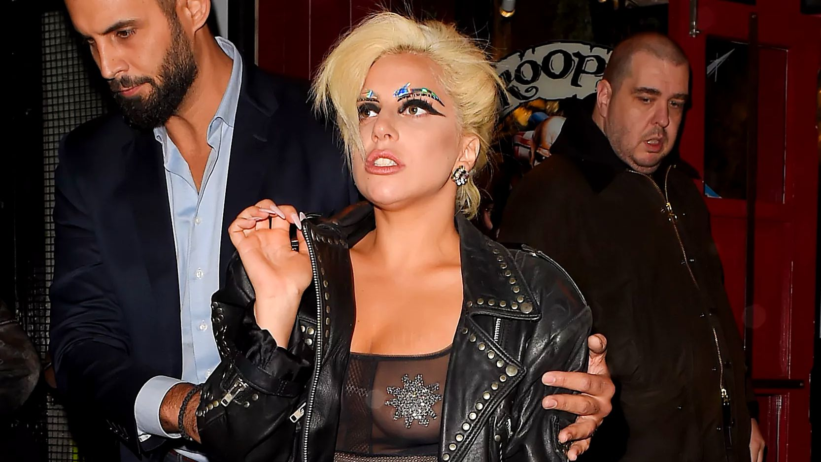 LONDON, ENGLAND - JUNE 09: Lady Gaga is seen in Soho after her Royal Albert Hall concert with Tony Bennett is cancelled due to Bennett falling ill on June 9, 2015 in London, England.