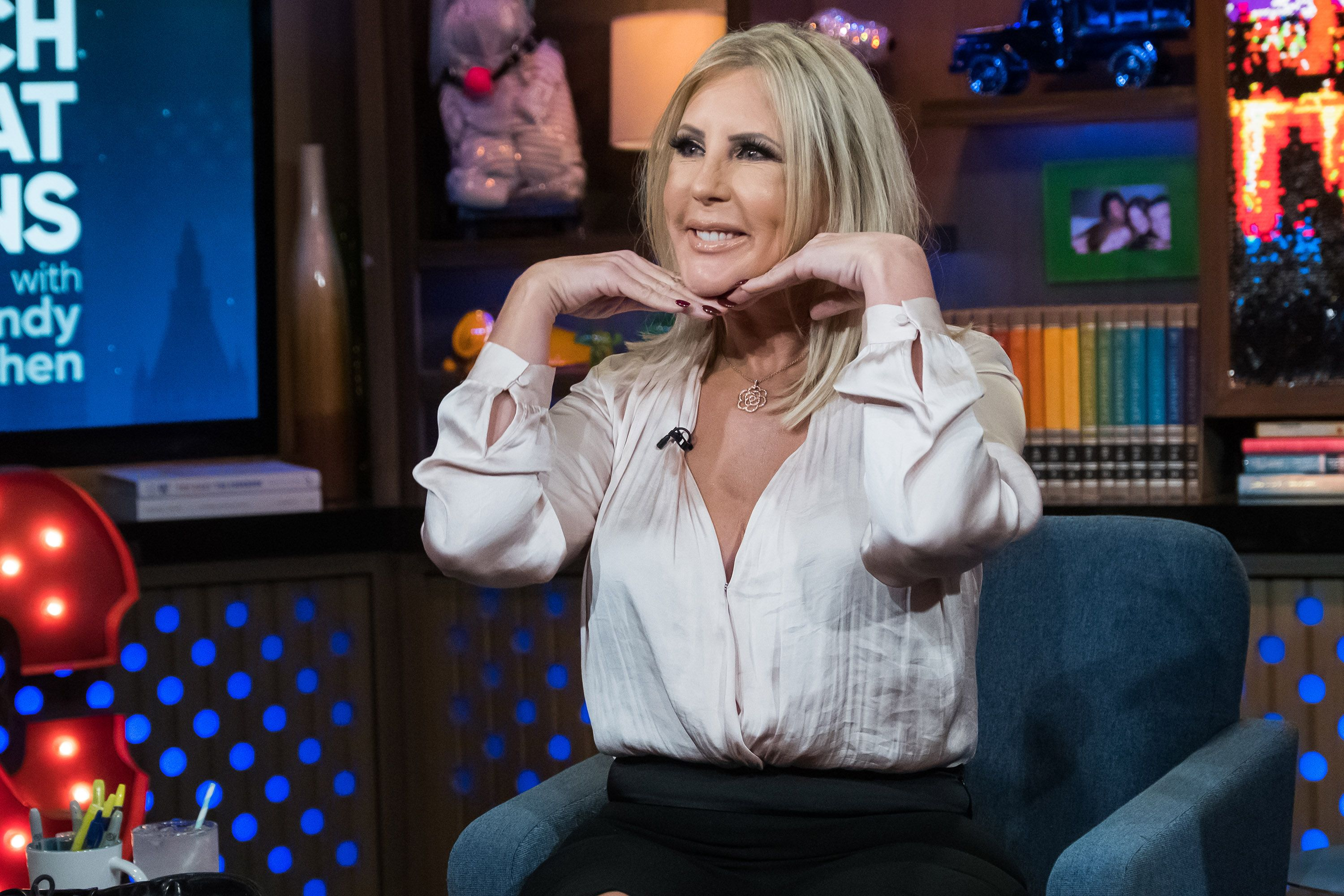 vicki gunvalson on Watch What Happens Live with Andy Cohen