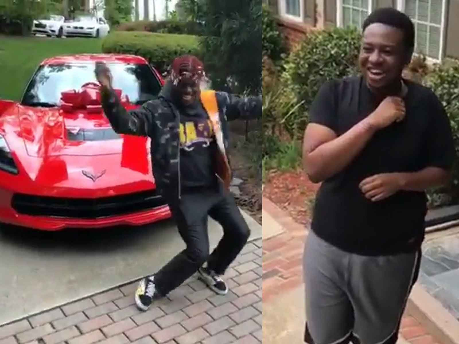 Lil Yachty Gifts Friend a New Vette for 21st Bday