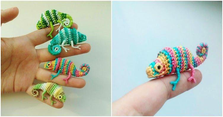 Karma Crochet Chameleon [Free Pattern] | 396x753