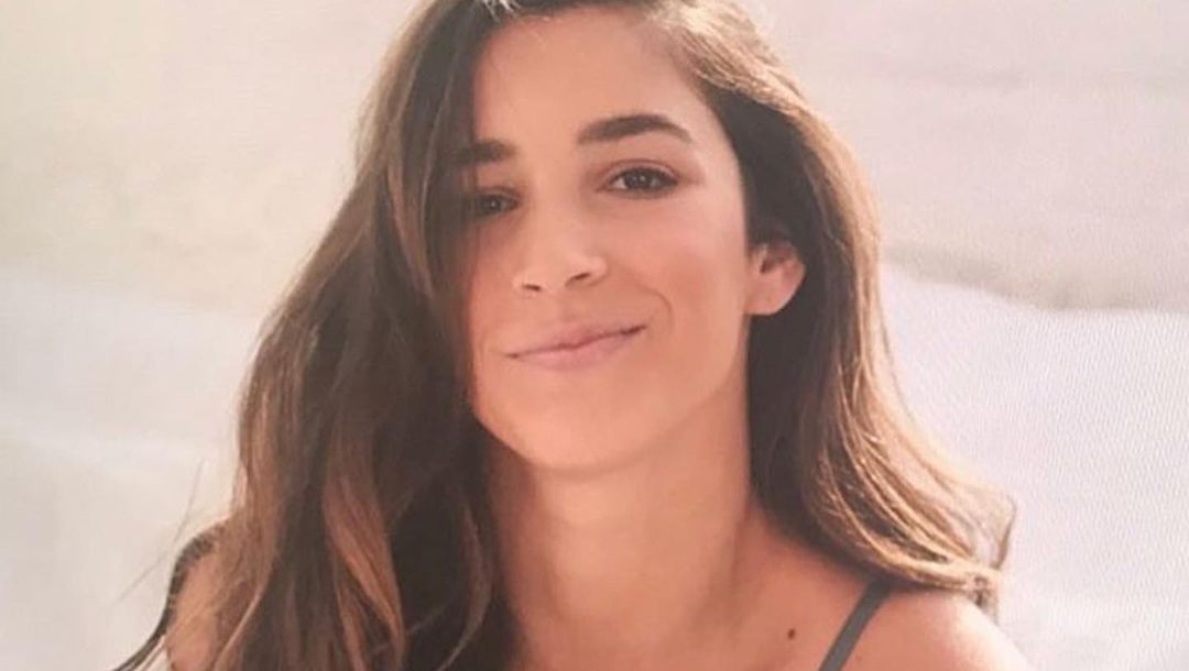 Aly Raisman in bed
