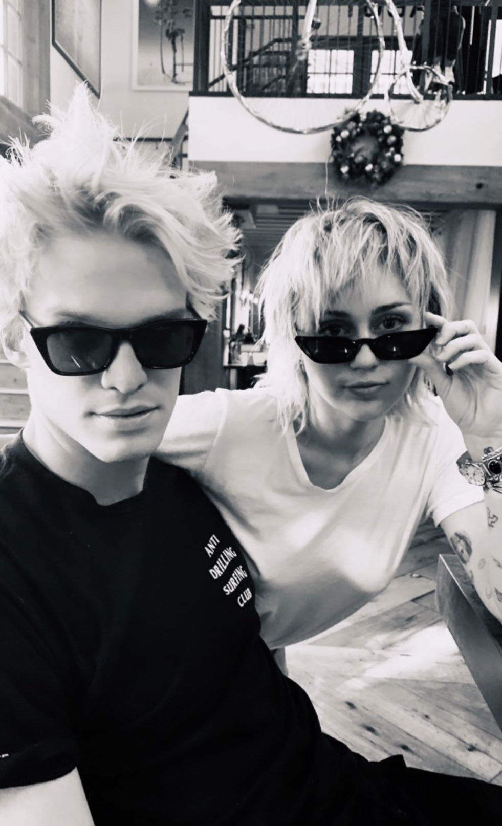 Miley Cyrus Cody Simpson Sport Matching Hair After Mullet Cut
