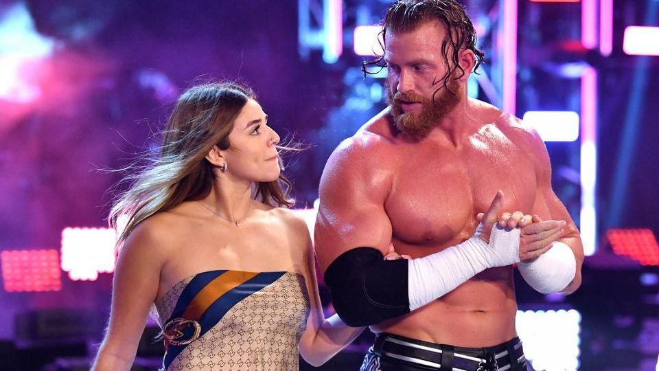 Aalyah Mysterio accompanies Murphy to the ring on the November 27, 2020, episode of Friday Night SmackDown.