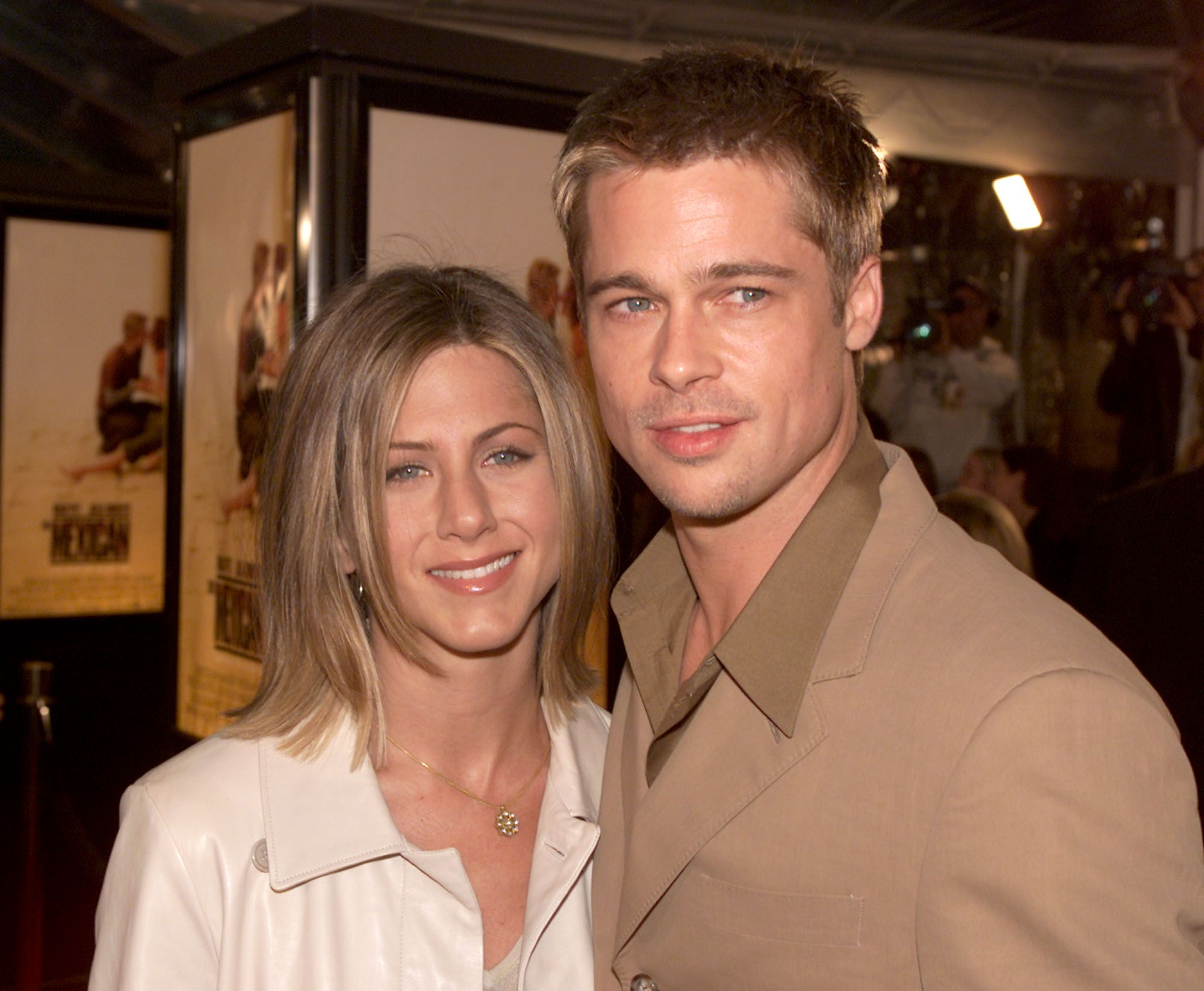 Brad Pitts and Jennifer Aniston While Dating