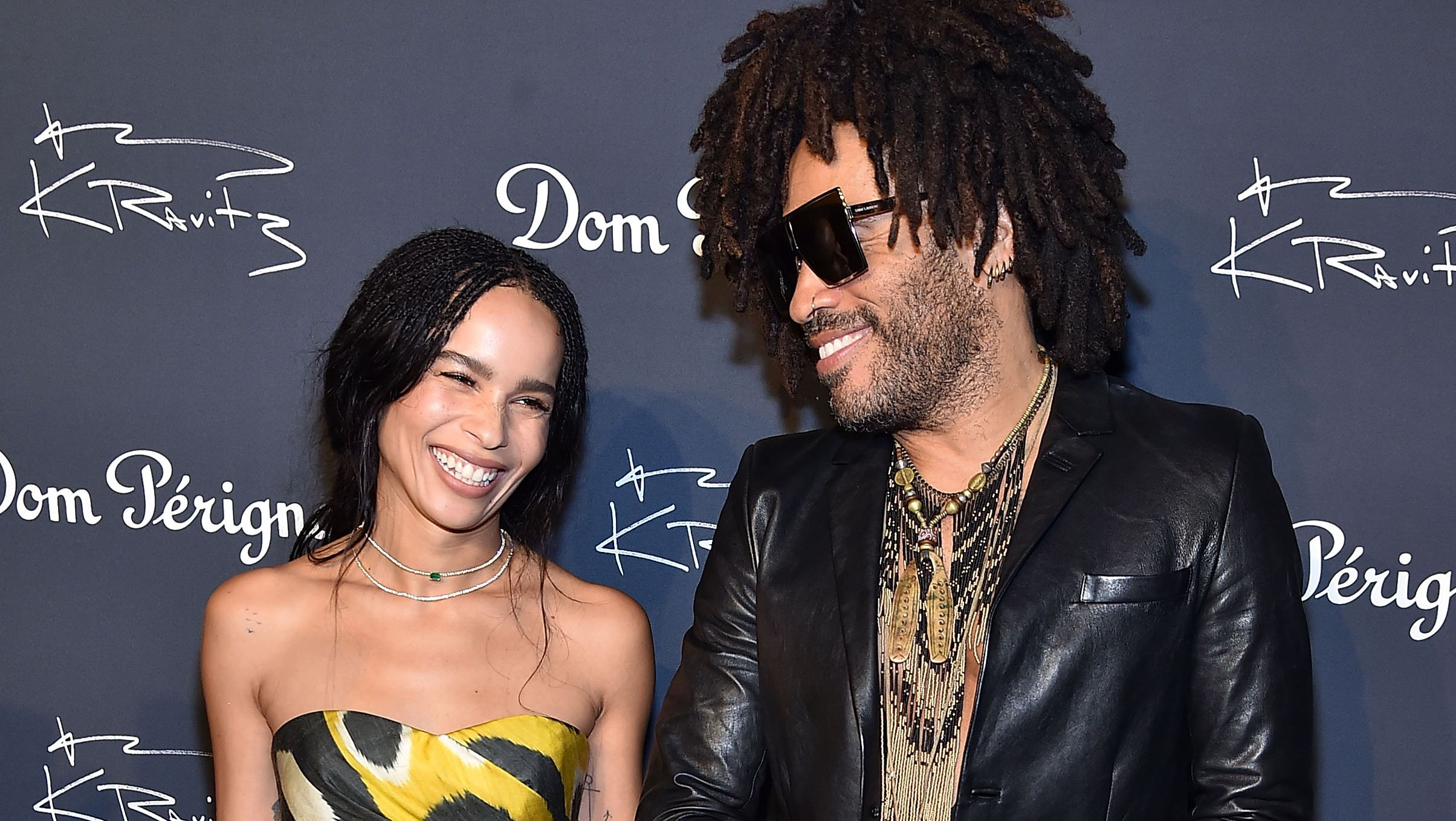 Zoe Kravitz Jumps On Stage At Dad Lenny Kravtiz New York