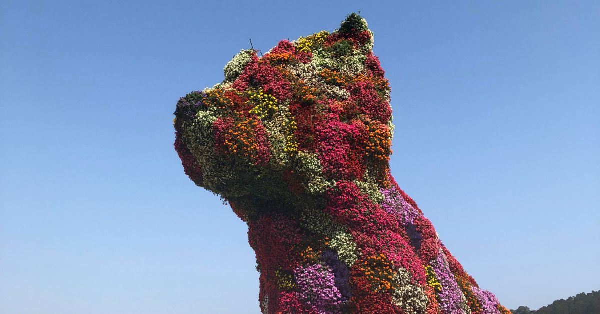 You Can Visit A Giant Dog Sculpture Made Out Of Flowers