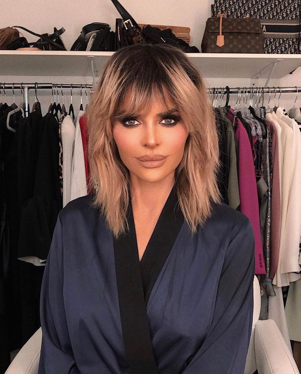 Lisa Rinna in a robe