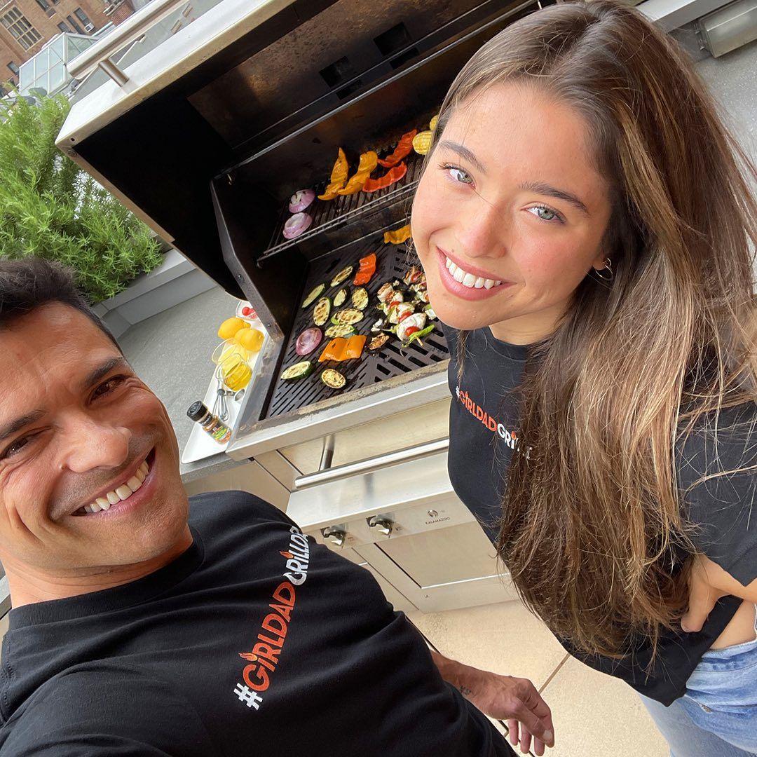 Mark Consuelos at BBQ with Lola