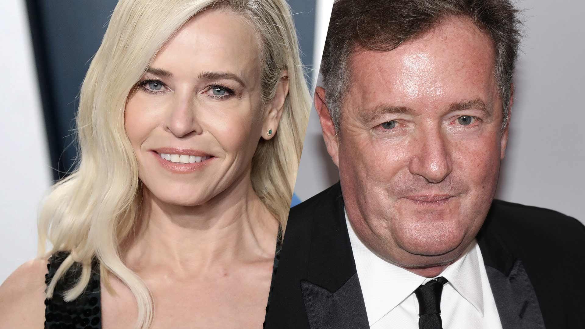 Chelsea Handler and Piers Morgan