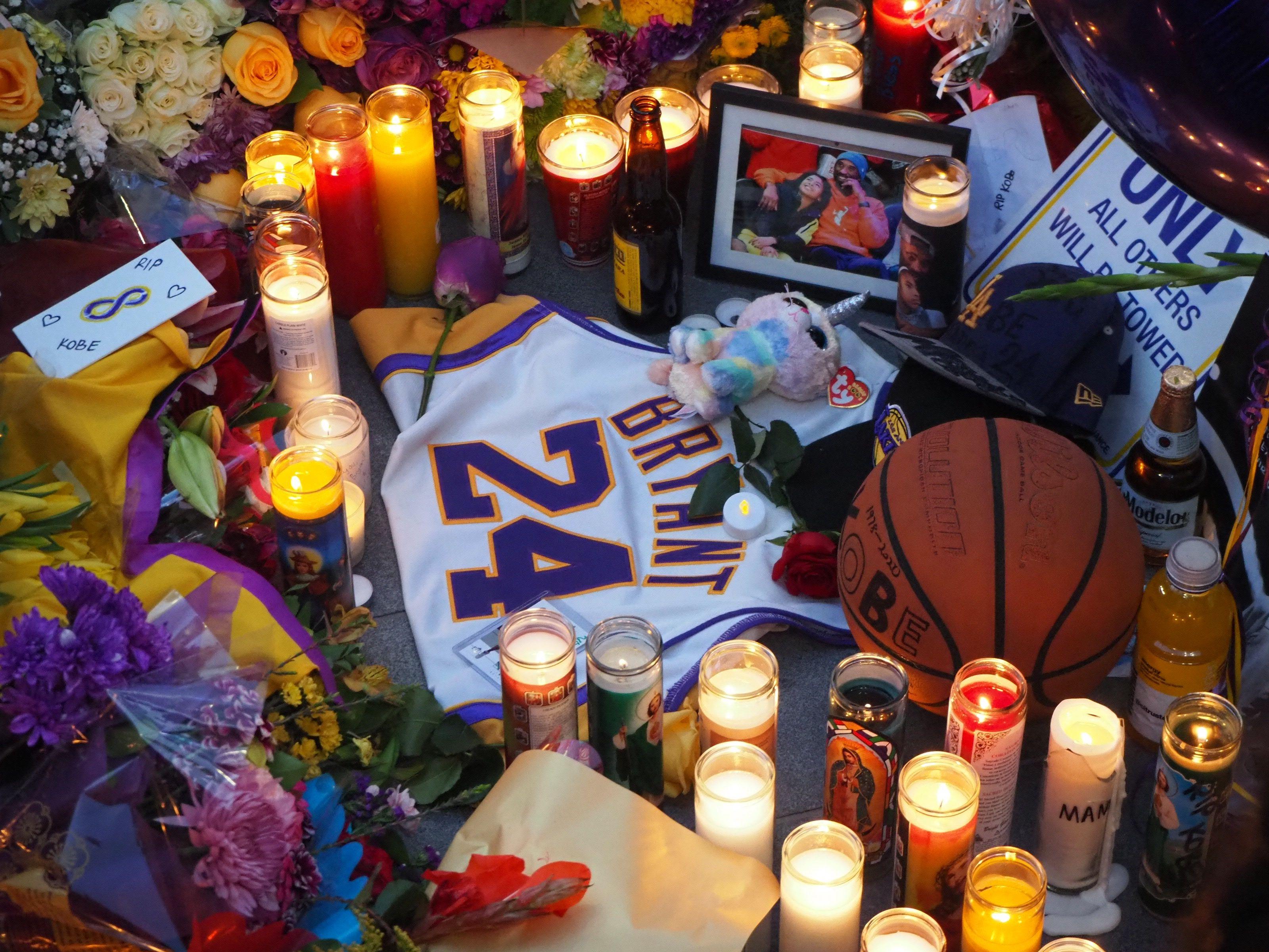 Memorial to Kobe Bryant