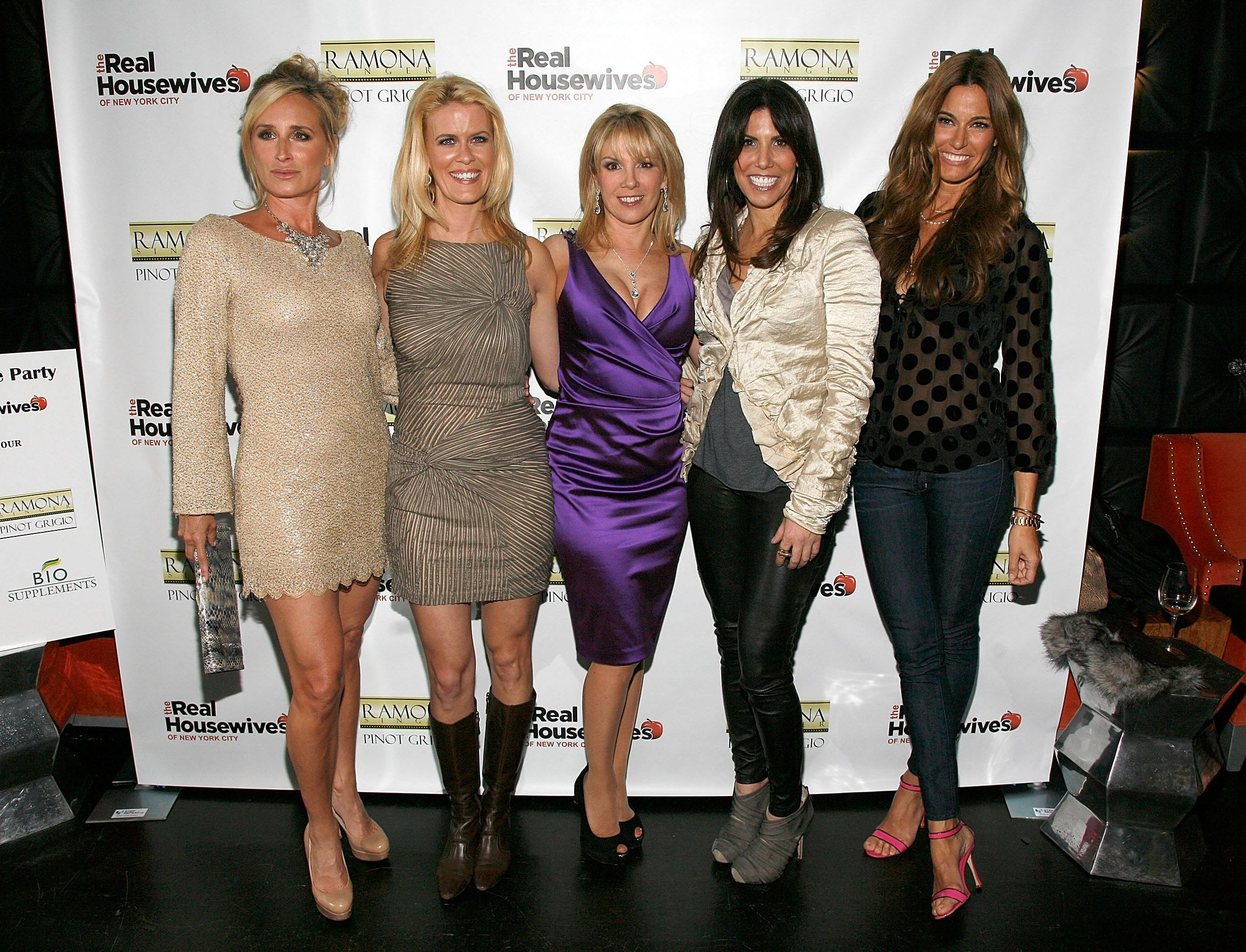 The 'RHONY' cast dresses up and wraps their arms around one another.