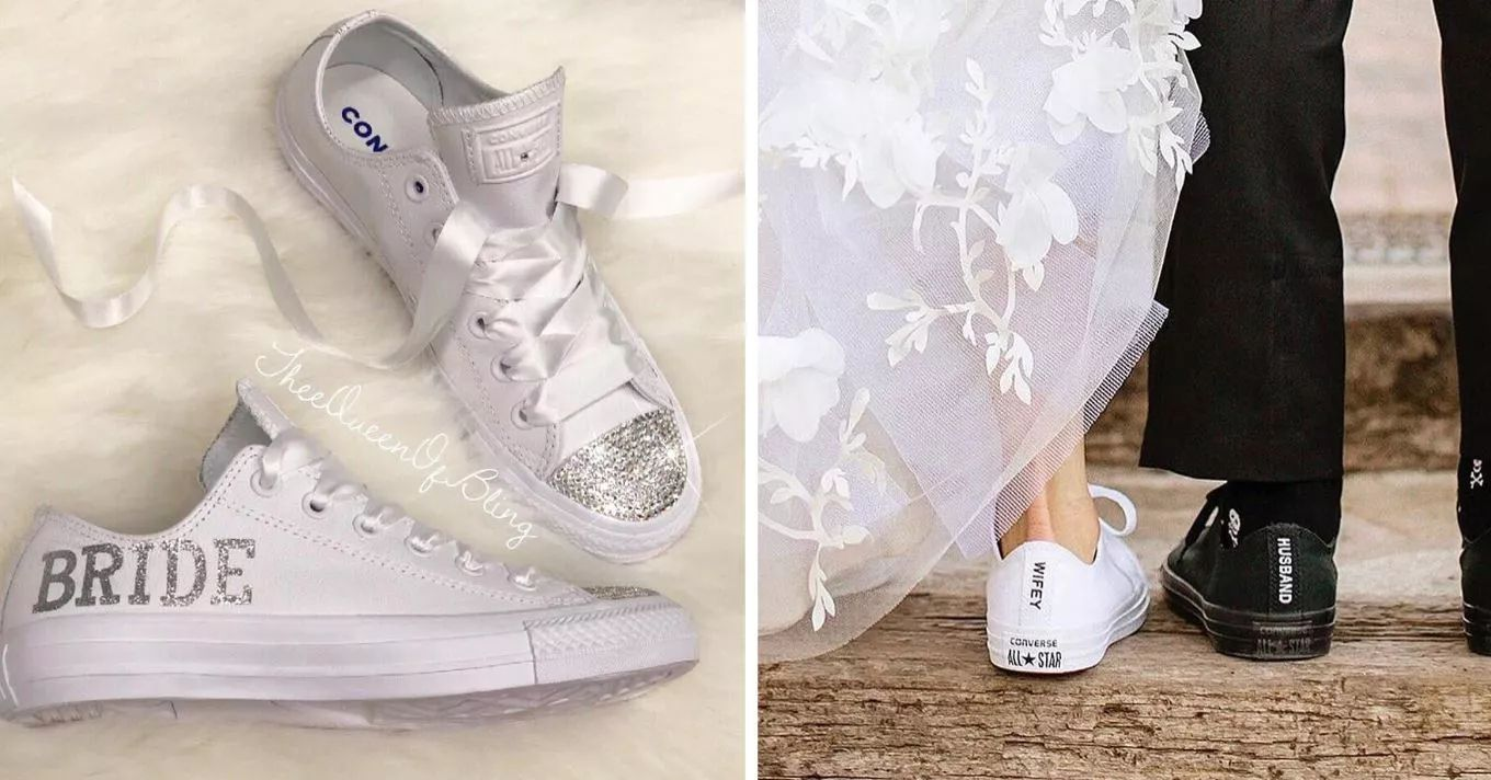 Wearing Sneakers Down The Aisle Instead