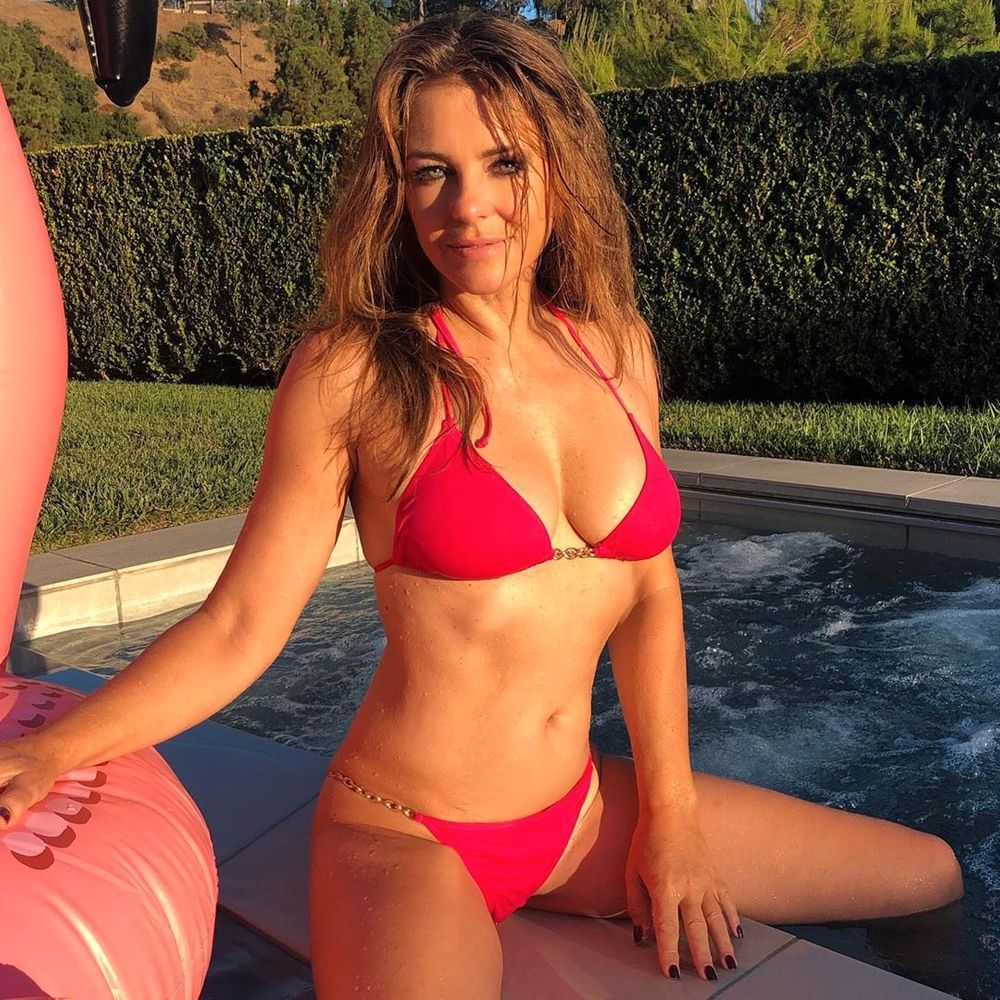 Bikini Bombshell Elizabeth Hurley Claims She Likes To Cover Up As Instagram Swimwear Snaps Continue