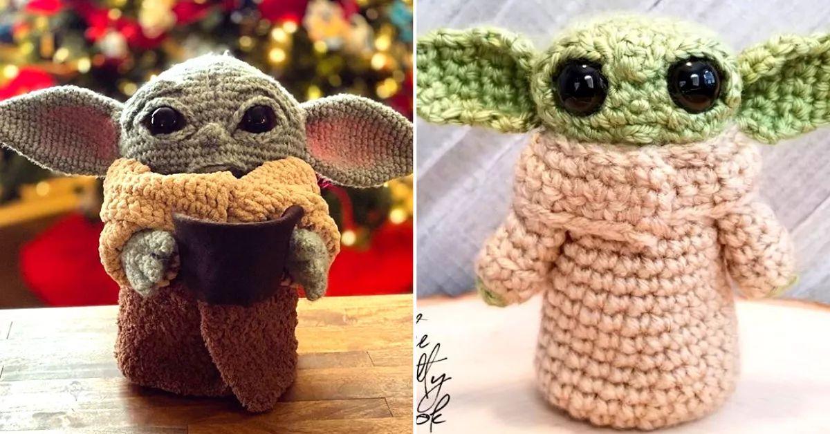 10+ Star Wars Yoda Crochet Patterns | 628x1200