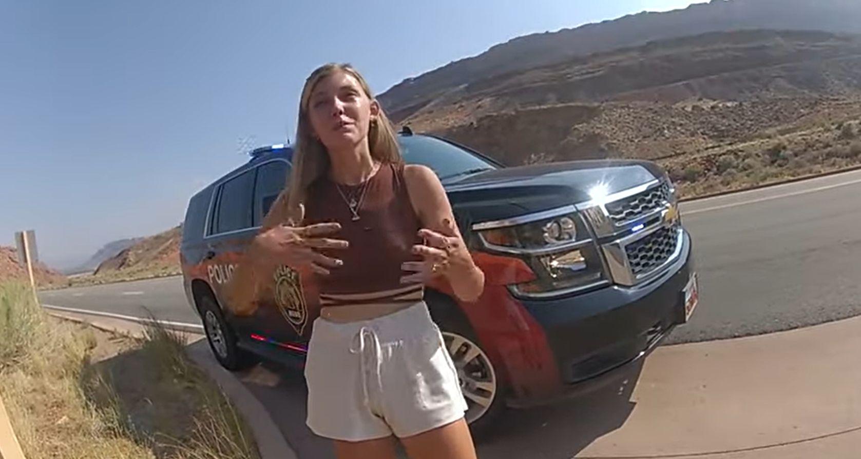 Gabby Petito on police bodycam footage.
