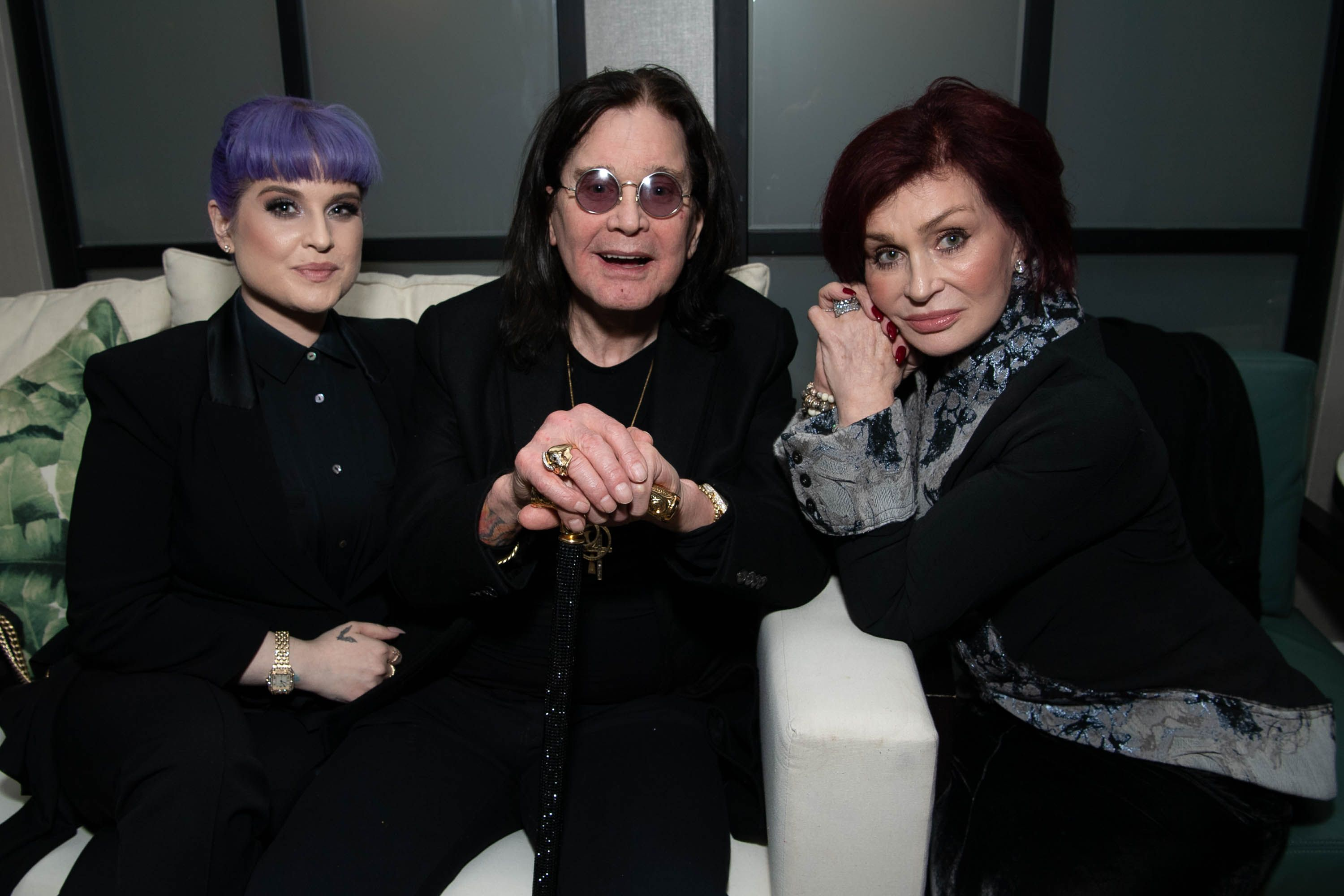 Ozzy Osbourne with his wife and daughter.