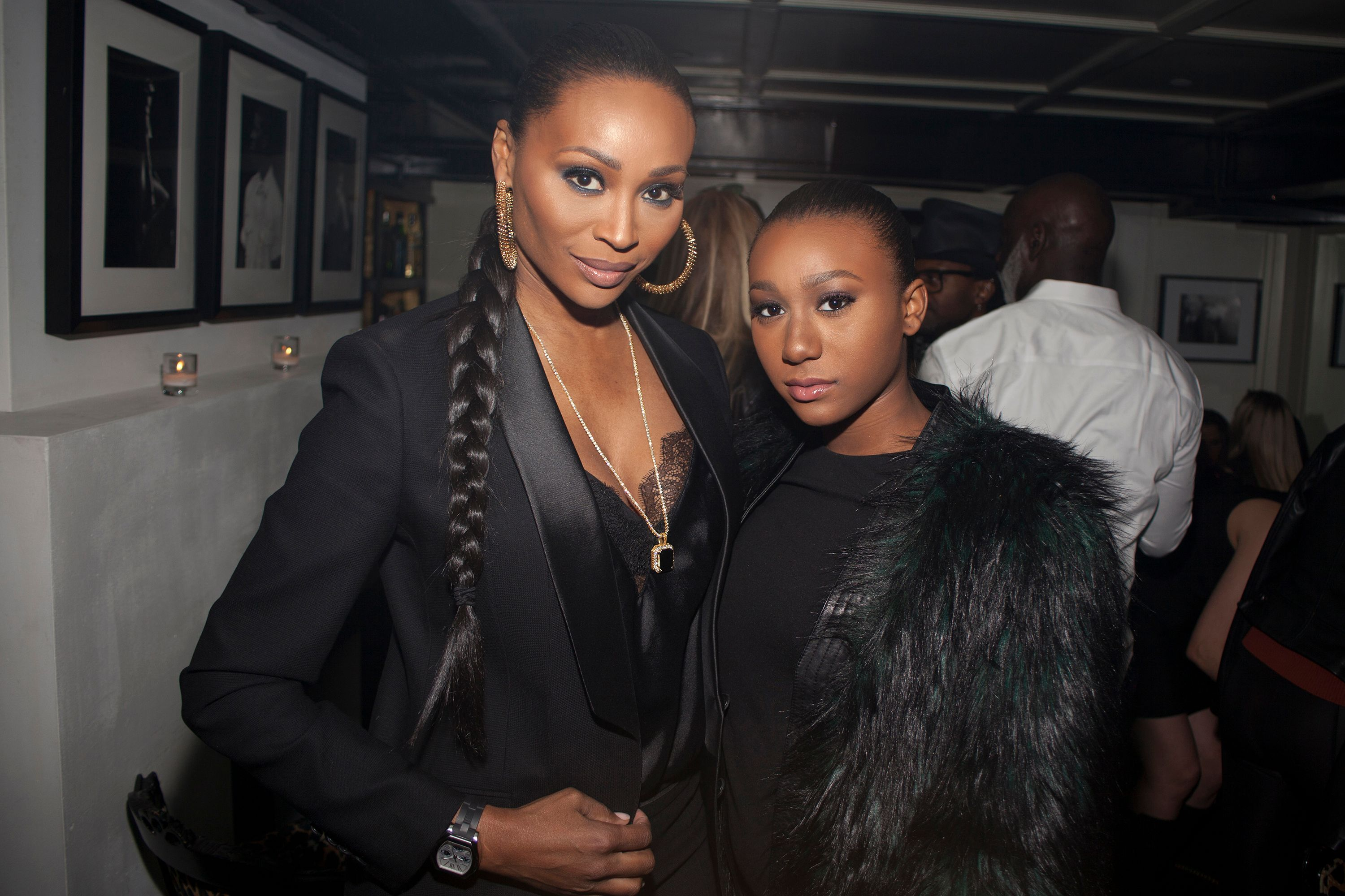 Cynthia Bailey and daughter Noelle Robinson at an event