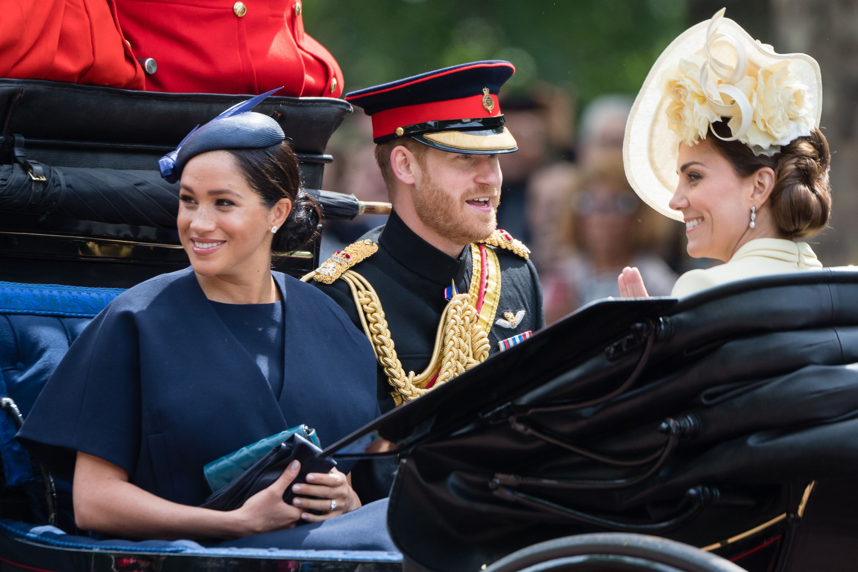 Meghan Markle, Prince Harry, and Kate Middleton