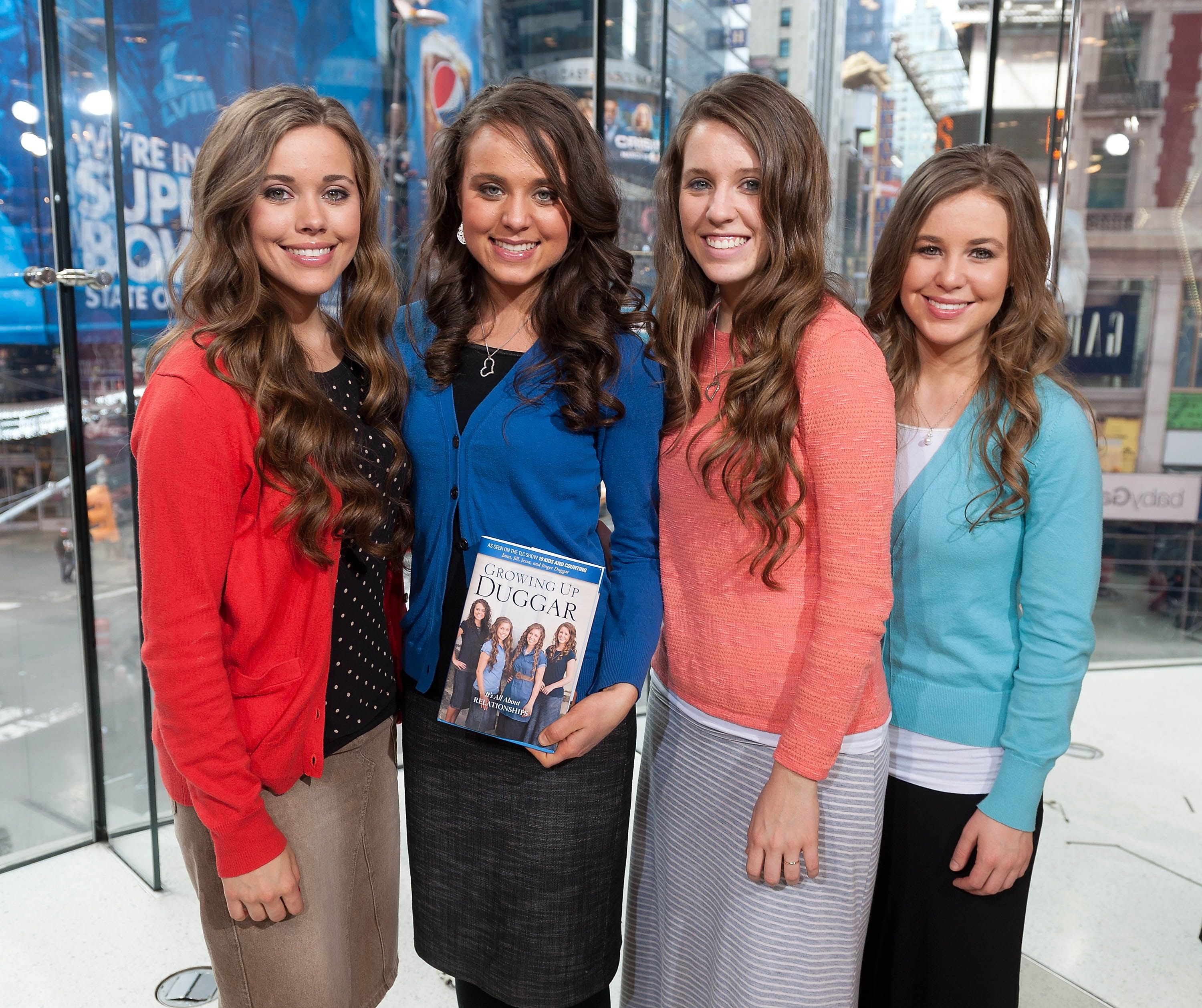 The Duggar daughters promoting their book