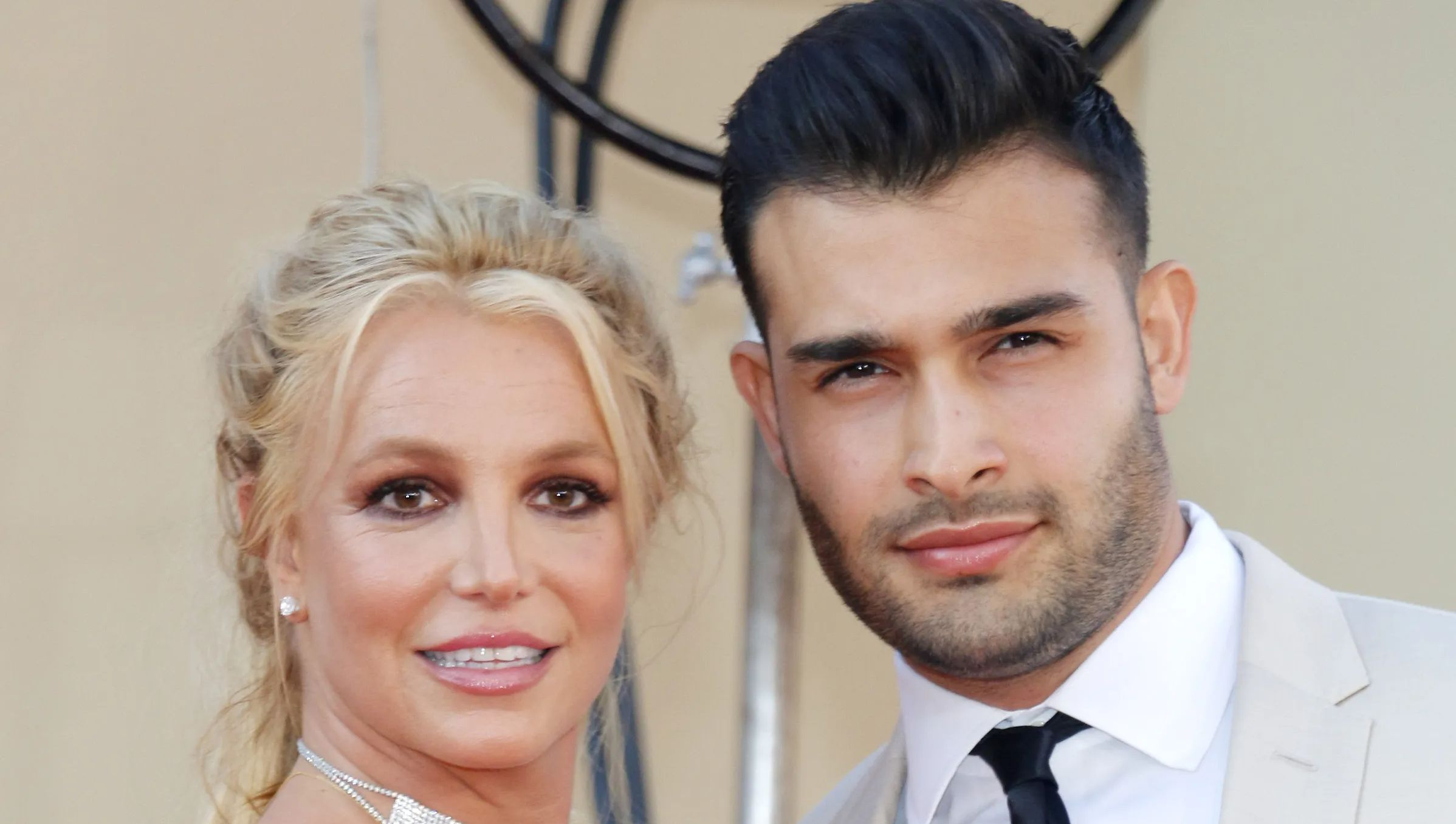 Britney Spears and boyfriend on the red carpet