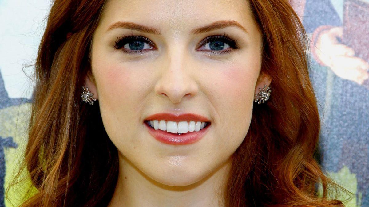 Anna Kendrick smiles close up