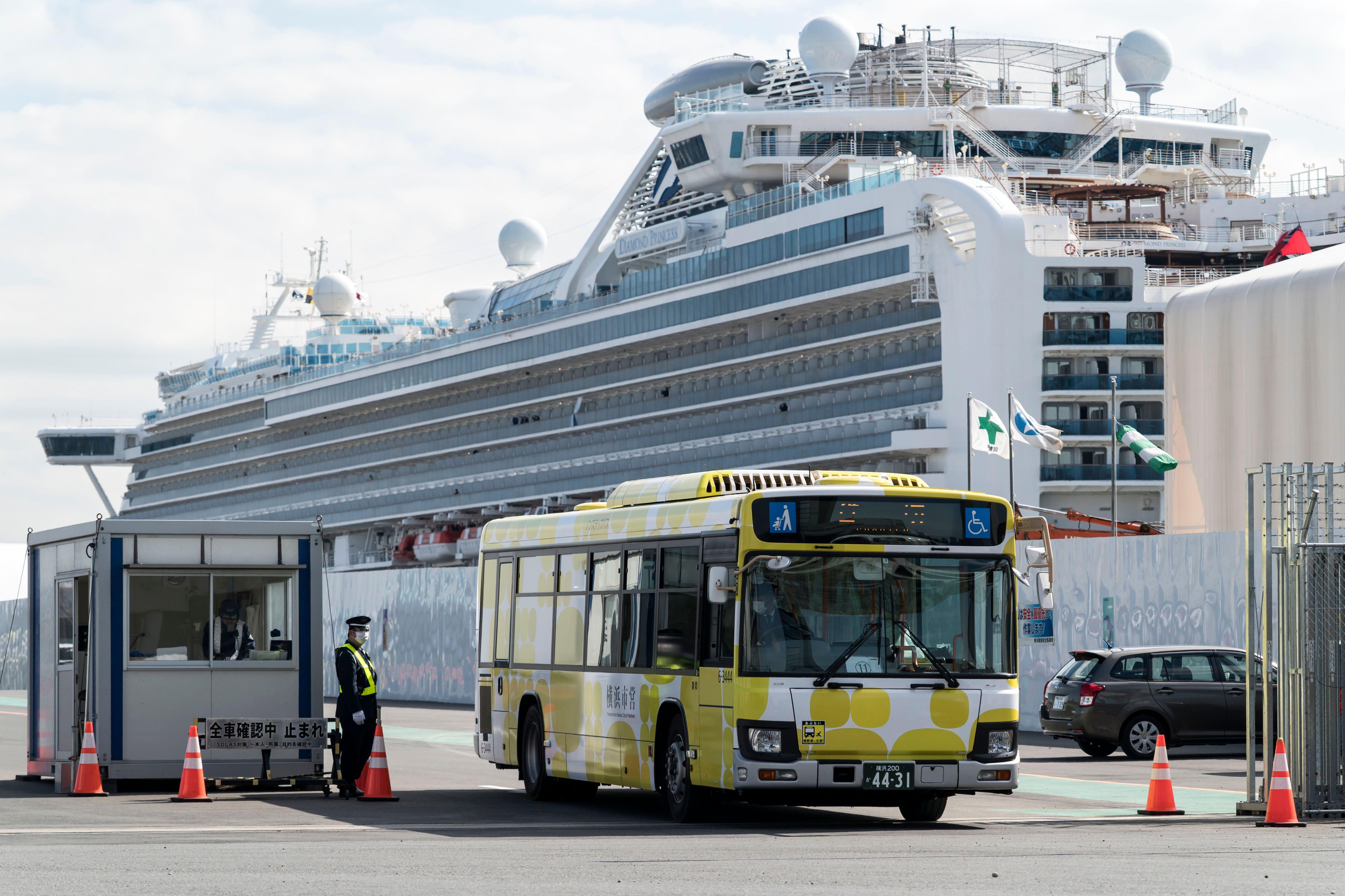 Bus at port