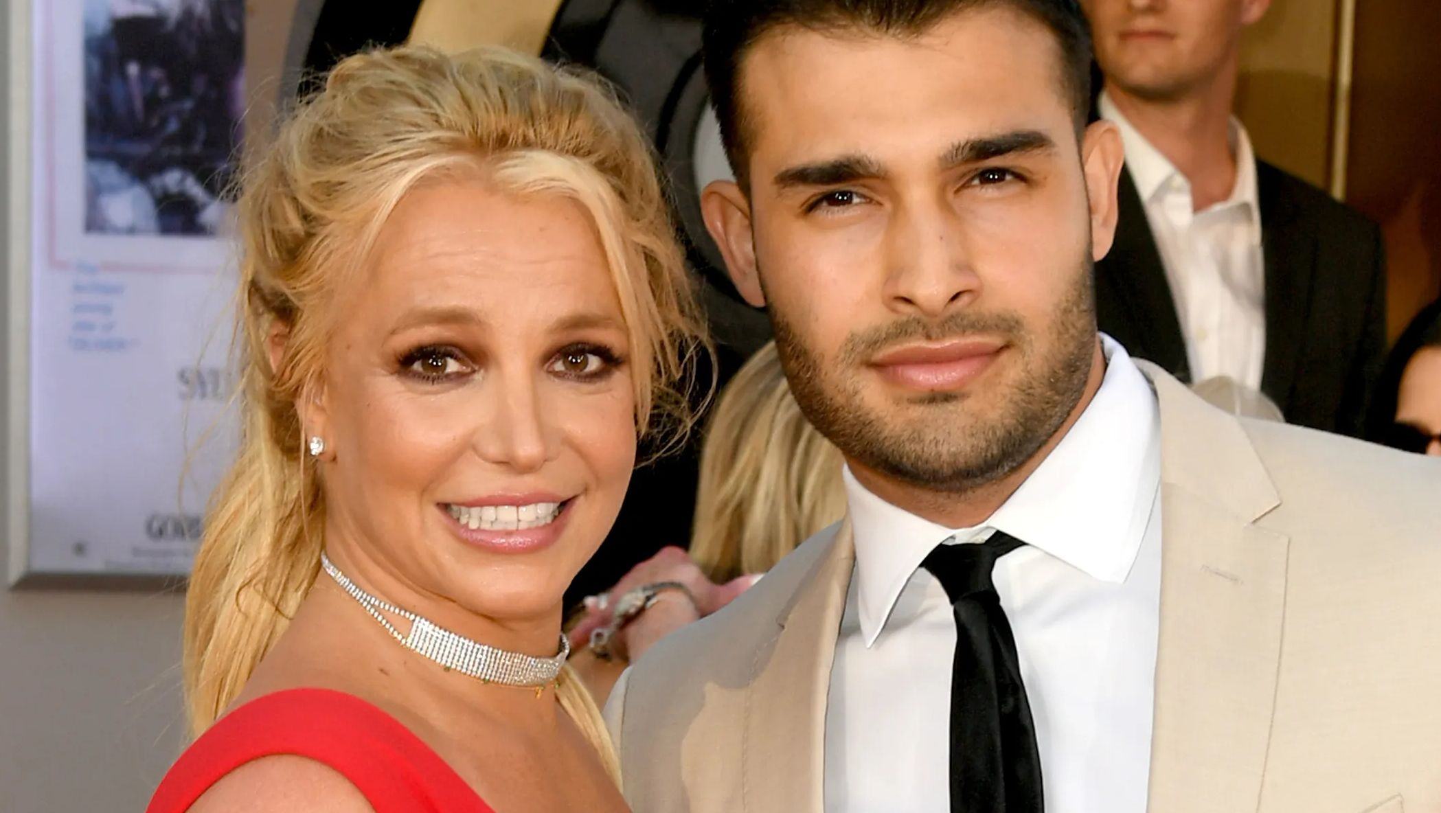 Britney Spears & Sam Asghari close up