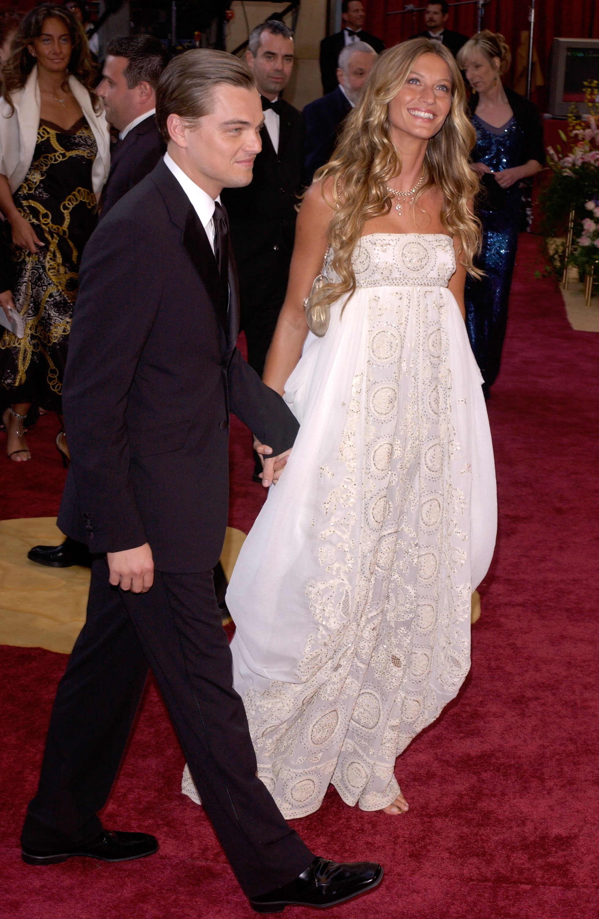 Leo and Gisele Bundchen on the red carpet