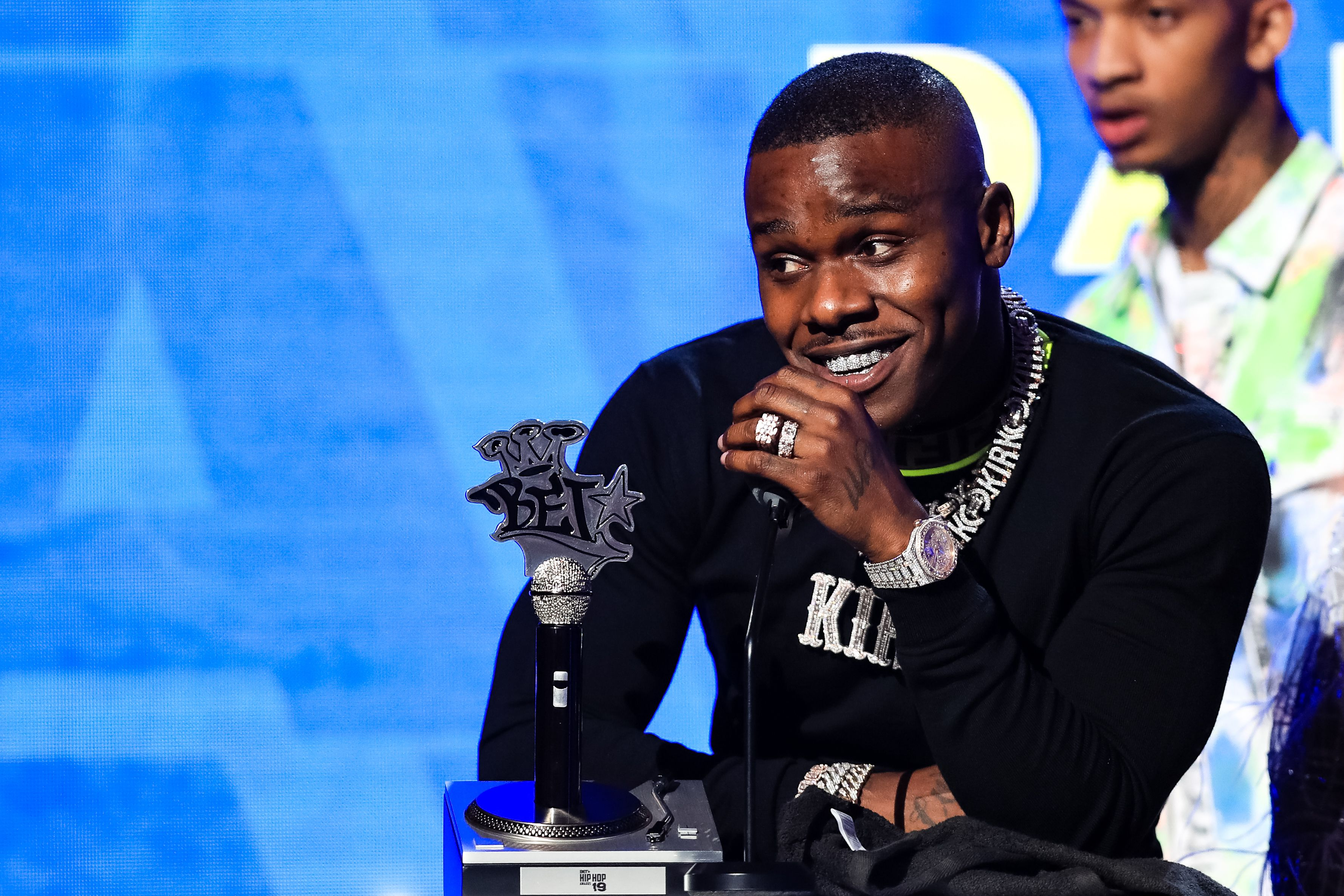 DaBaby winning 'Best New Artist' award at 2019 BET Hip-Hop Awards.