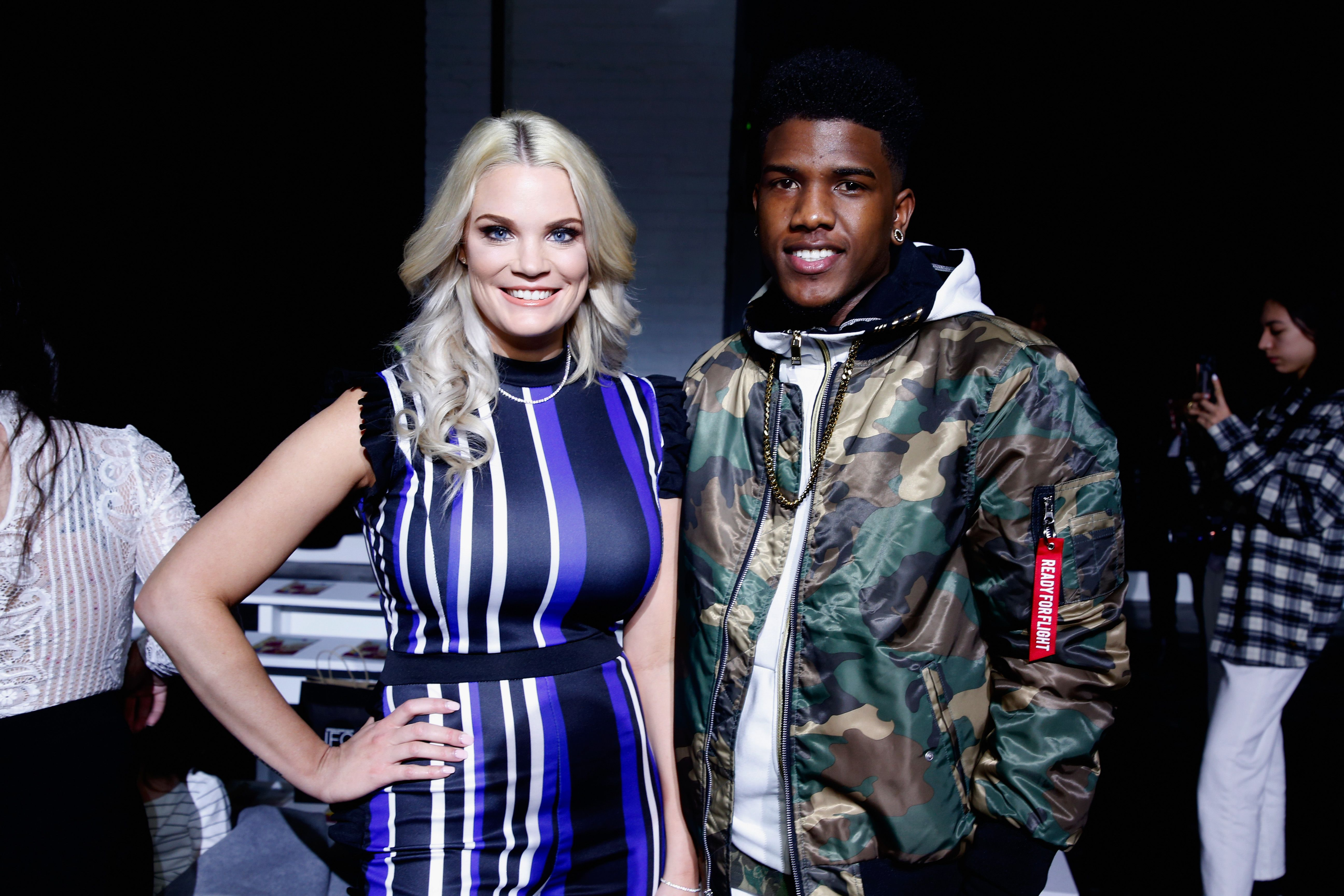 Ashley Martson and Jay Smith at a fashion show together